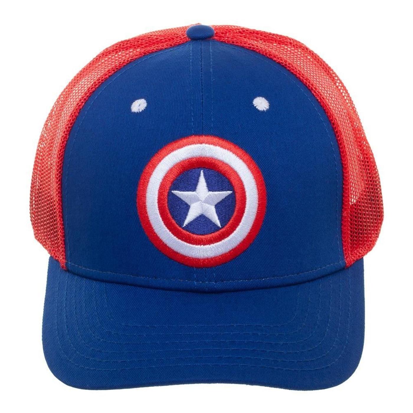 Captain America Mesh Trucker Hat