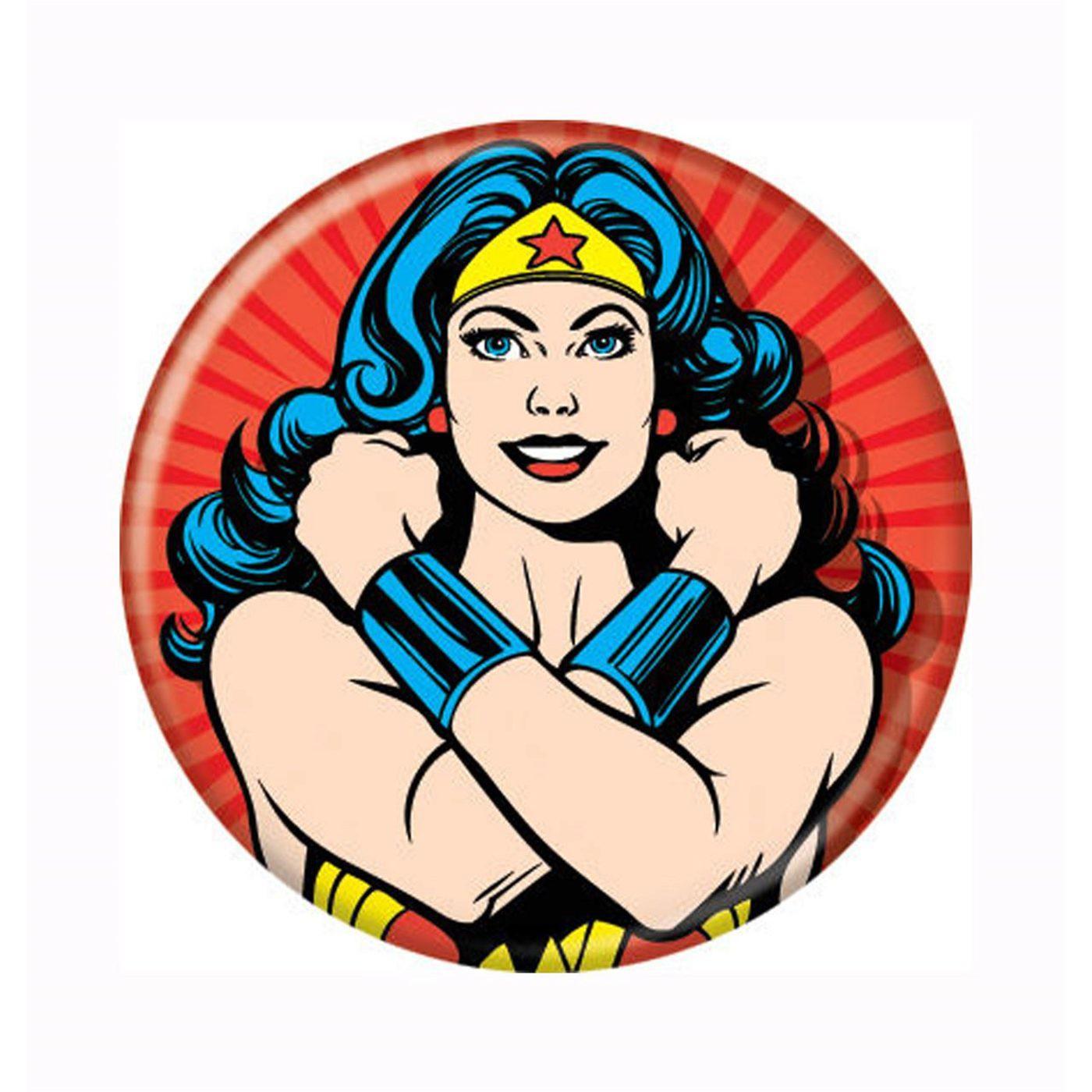 Wonder Woman Bracelets Crossed Button