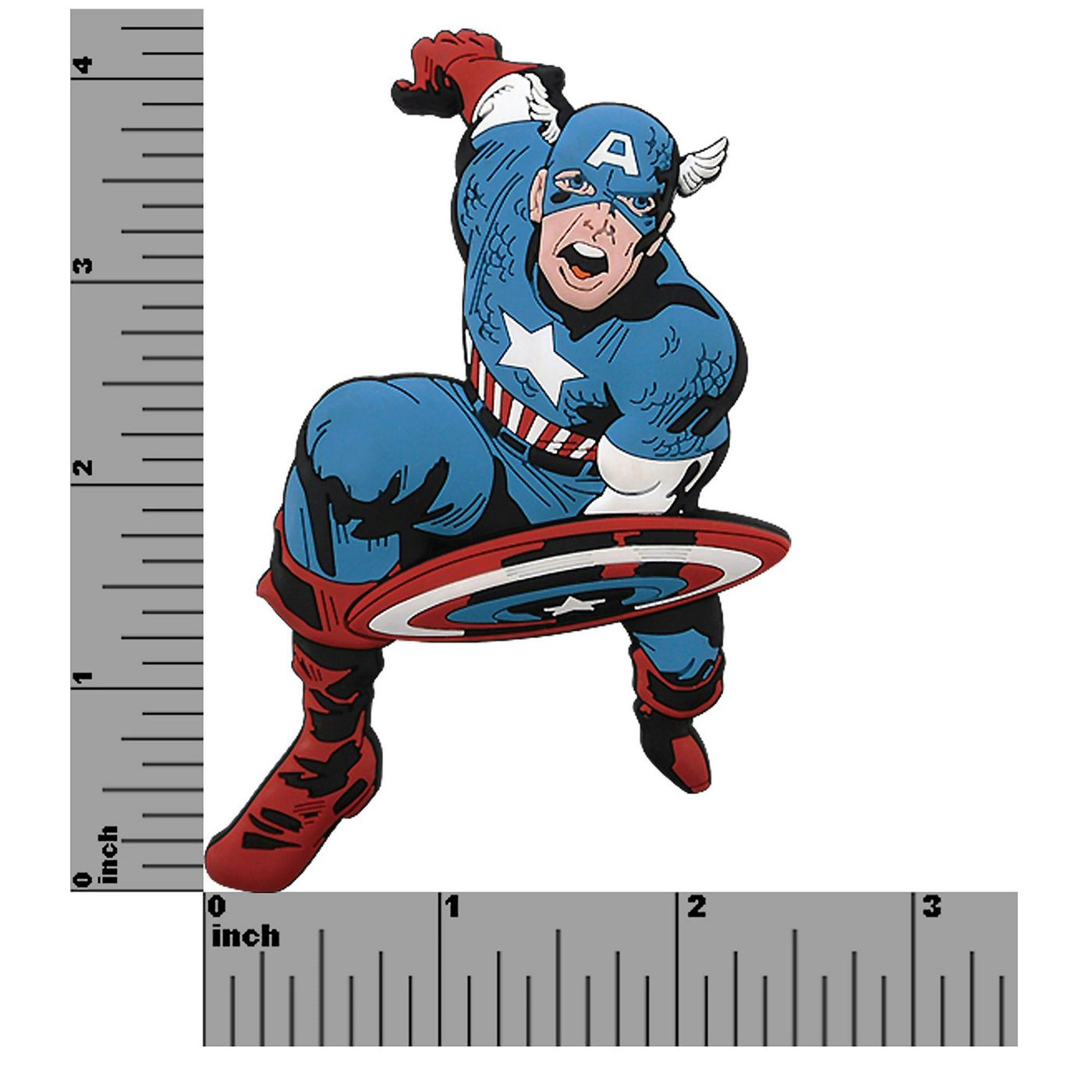 Captain America 3D Die Cut Rubber Magnet