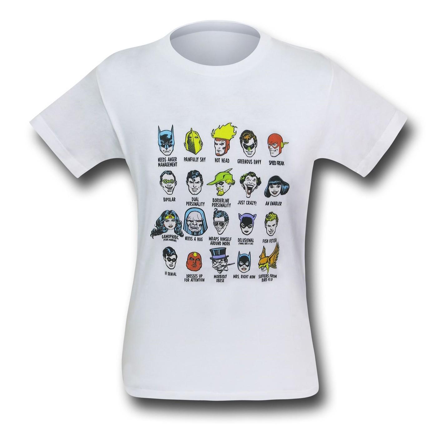 DC Character Heads Kids T-Shirt