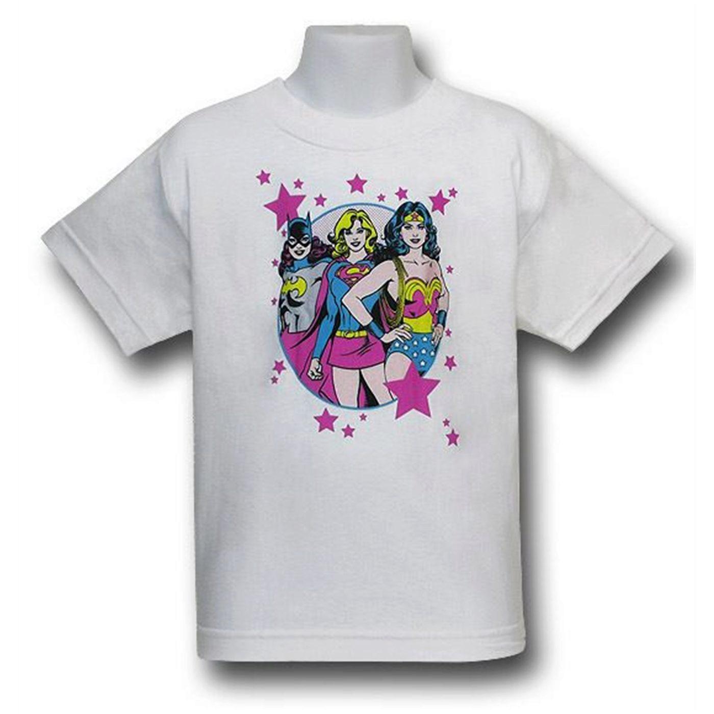 DC Super Girls Kids Star T-Shirt