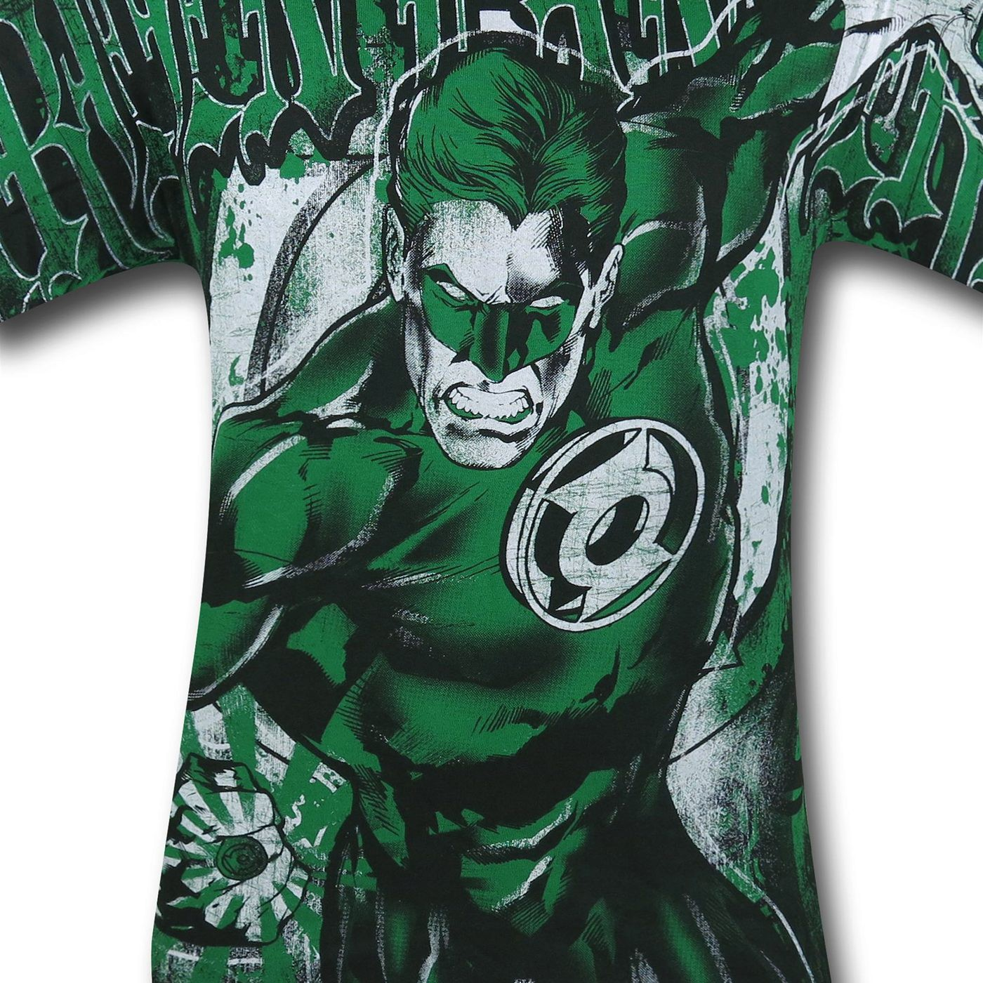 Green Lantern All Over Gothic Print T-Shirt