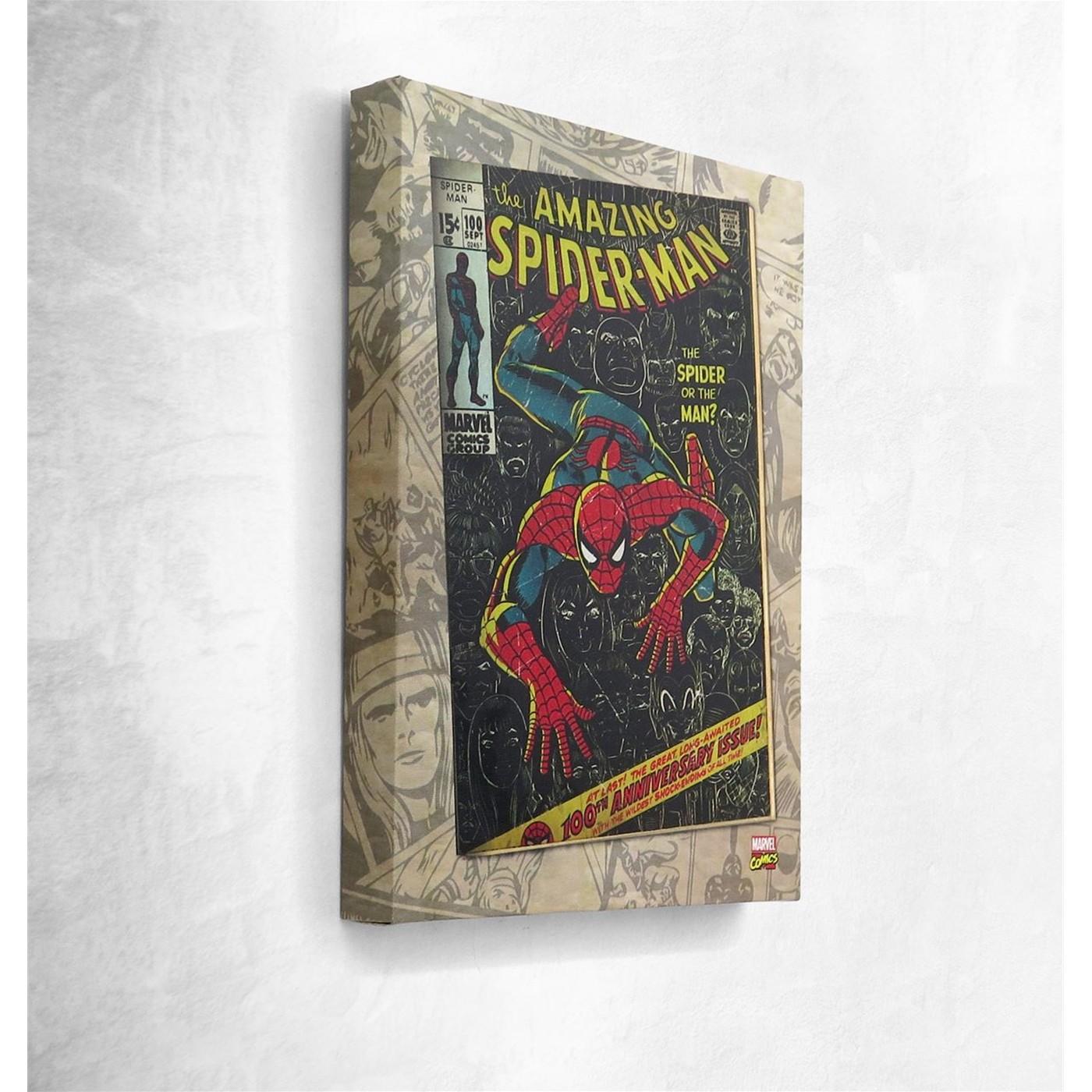 Spiderman #100 Artwork Canvas