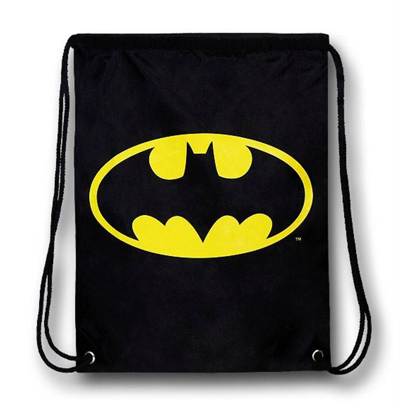 Batman Face Hooded Symbol Backsack