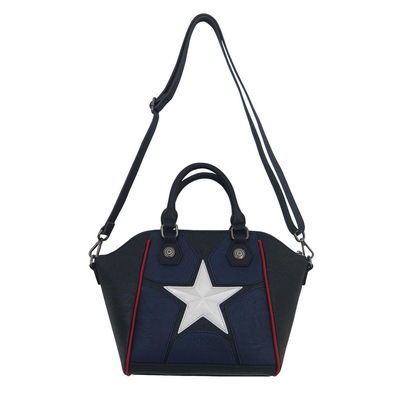 Captain America Star Logo Loungefly Crossbody Handbag