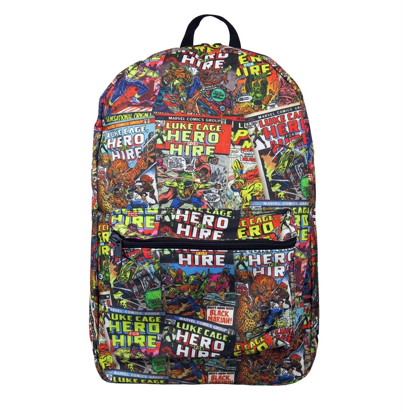 Luke Cage Comic Cover Mosaic Backpack