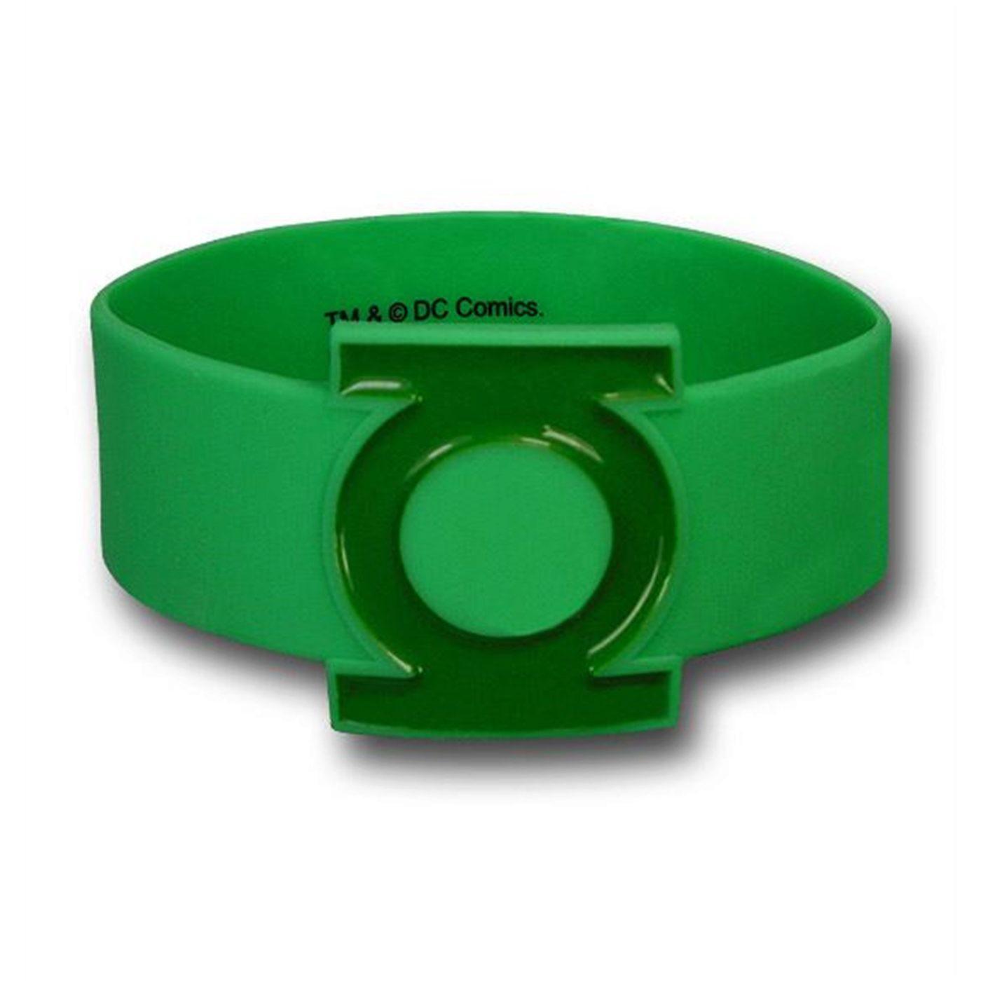 Green Lantern Symbol Molded Rubber Wristband