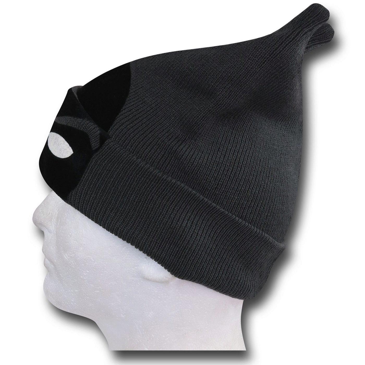 Batman Cuff Flock Mask Beanie