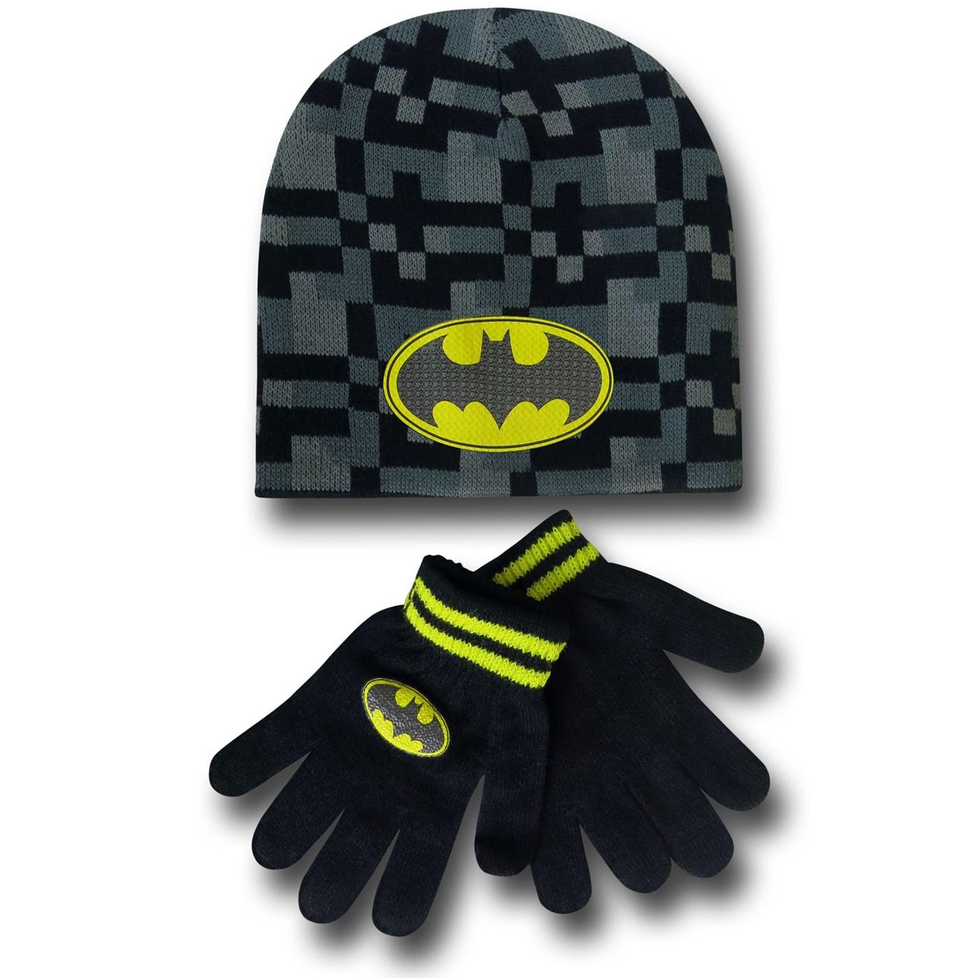 Batman Kids Knit Beanie & Glove Set