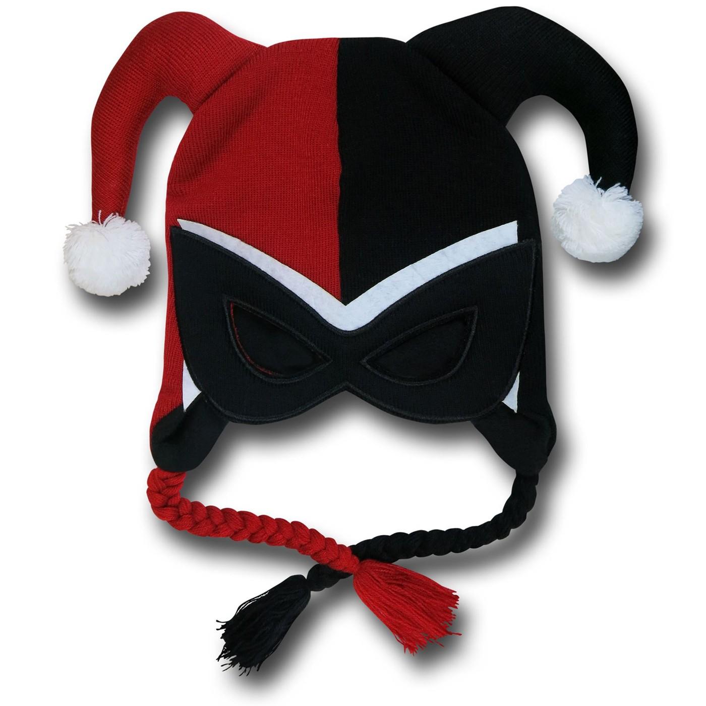 Harley Quinn Mask Peruvian Beanie