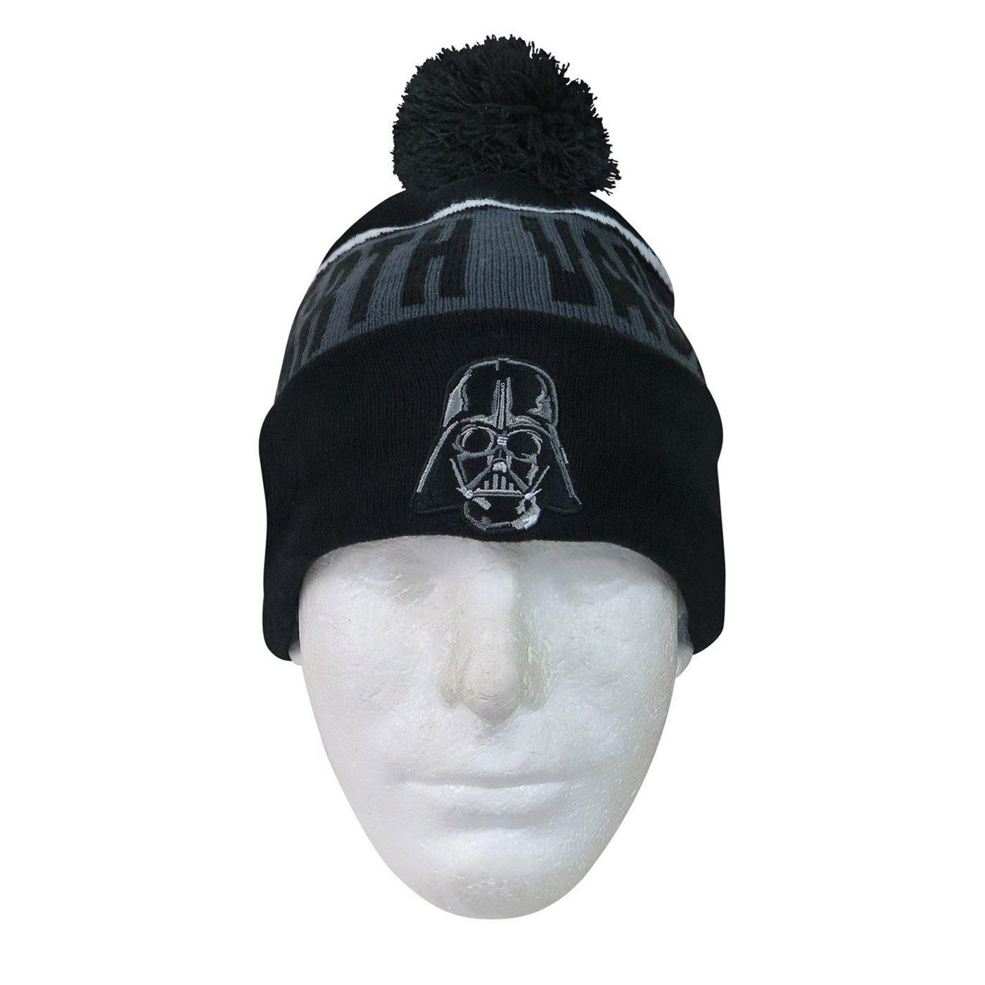 Star Wars Darth Vader Fleece Lined Pom Pom Beanie