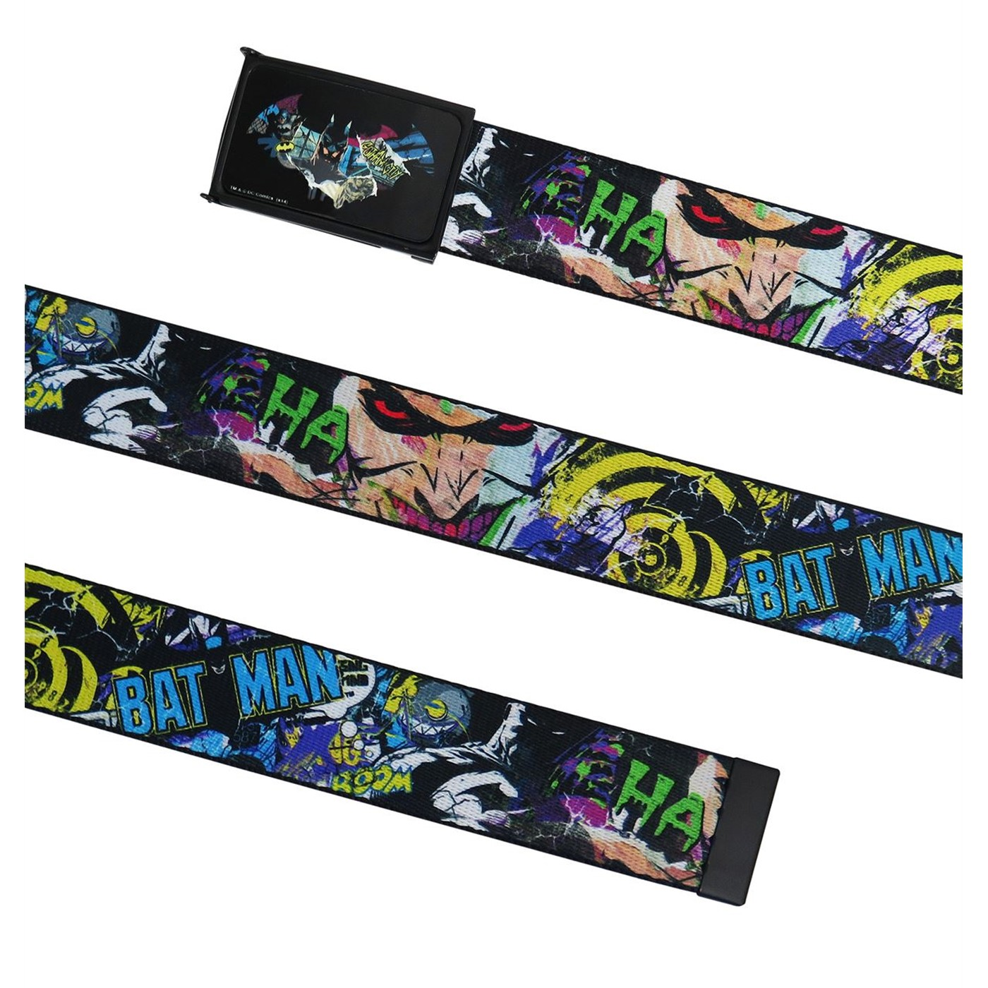 Batman Comic Collage Web Belt