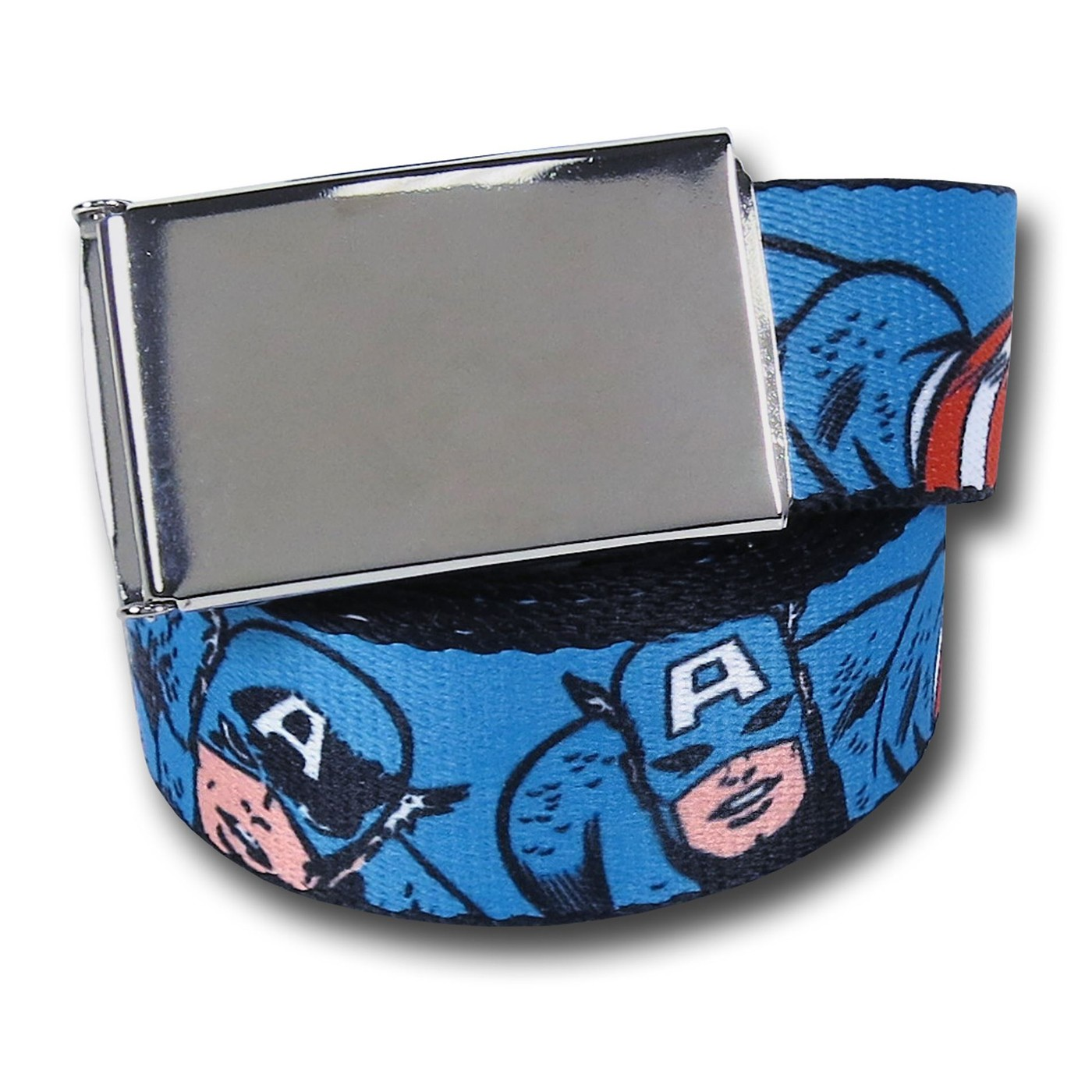 Captain America Retro Images Blue Web Belt