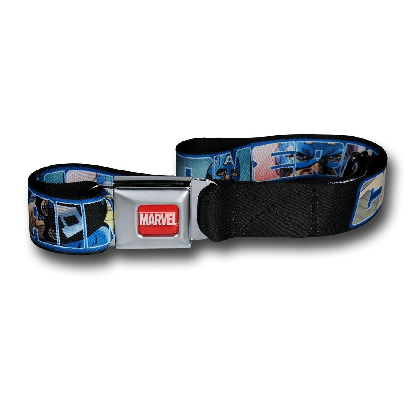 Captain America Letters Seatbelt Belt