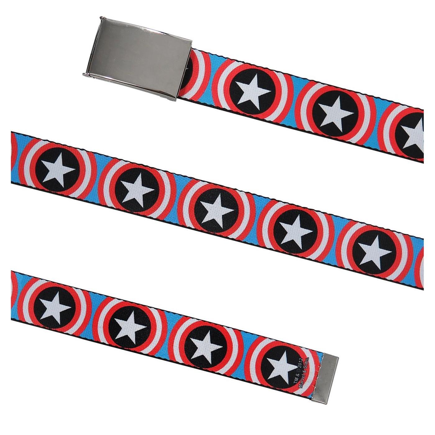 Captain America Vibranium Shields Web Belt