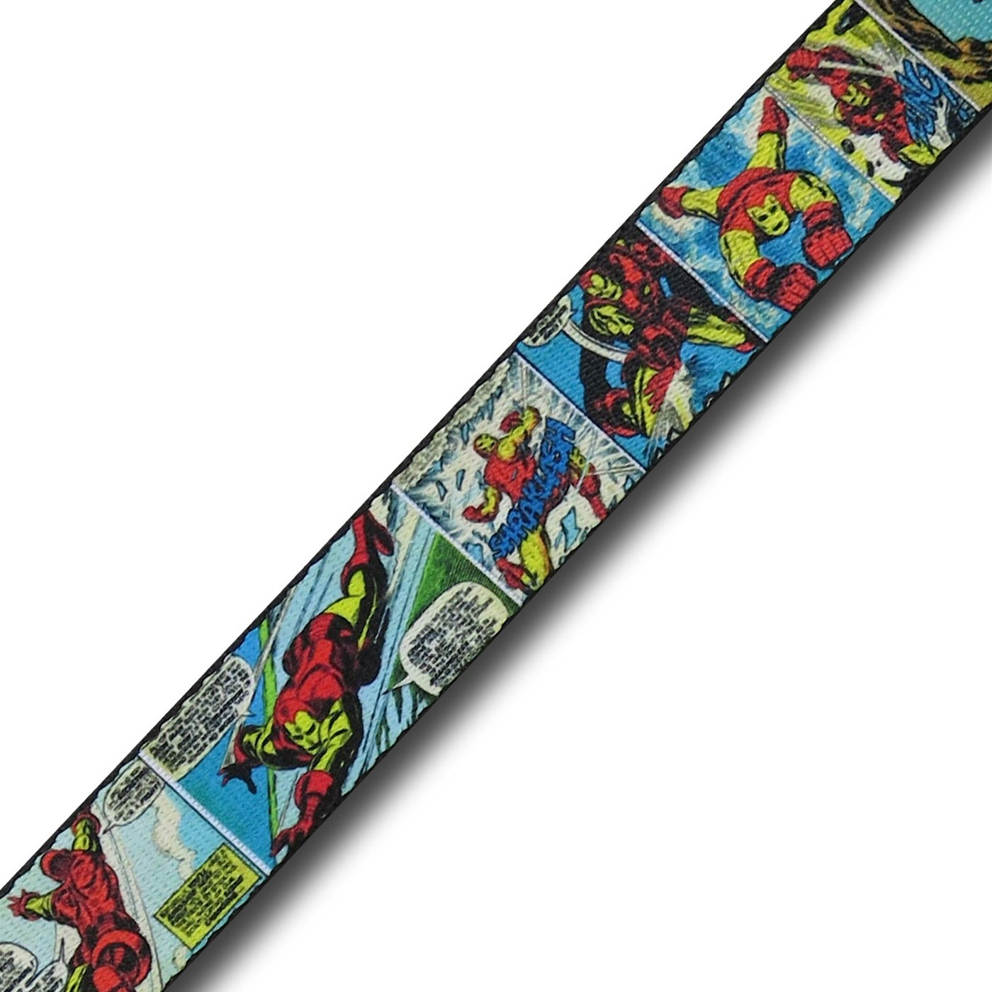 Iron Man Classic Comic Panels Adult Web Belt