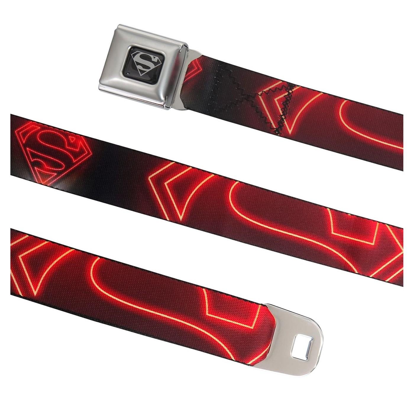 Superman Neon Symbol Seatbelt Belt