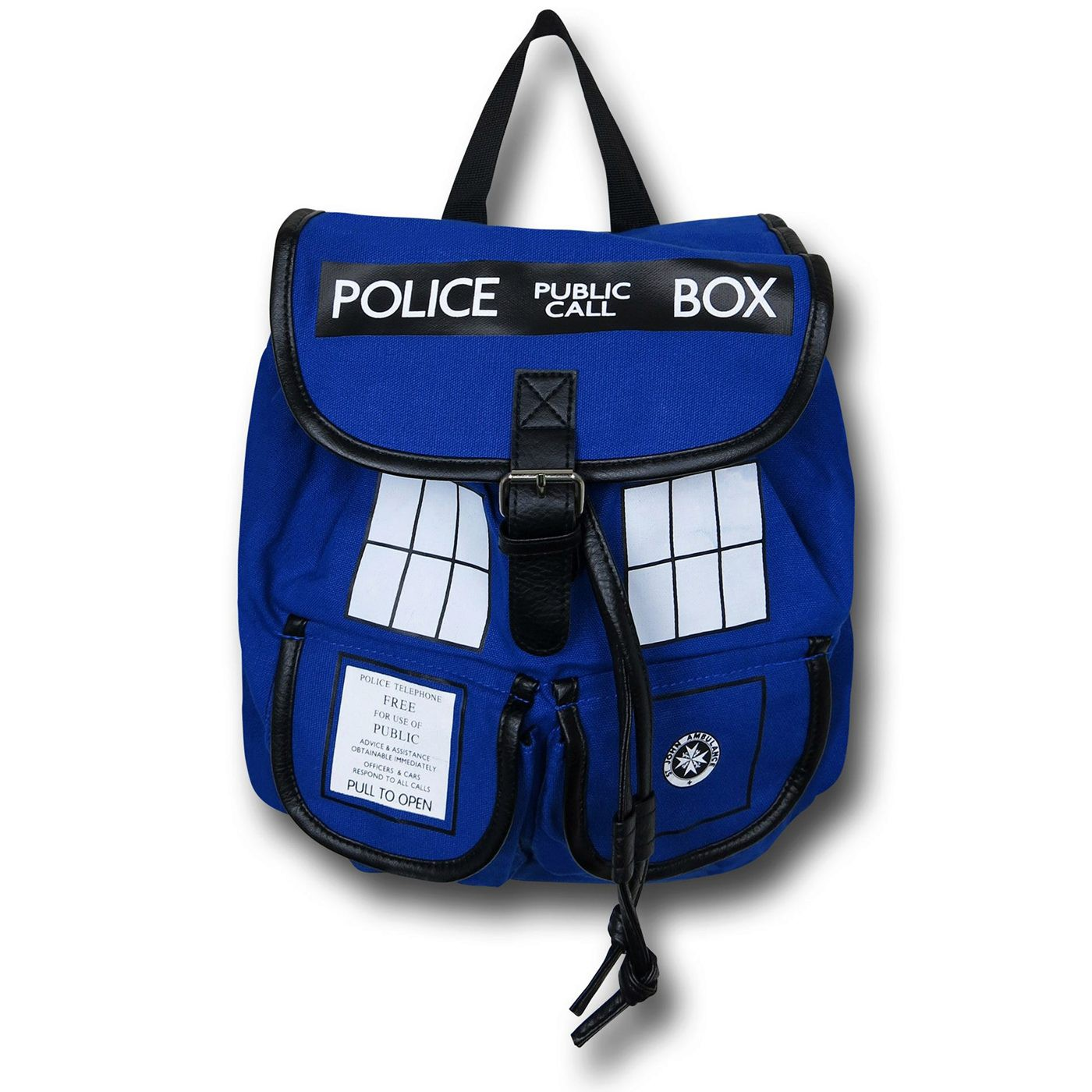 Doctor Who Blue Tardis Knapsack
