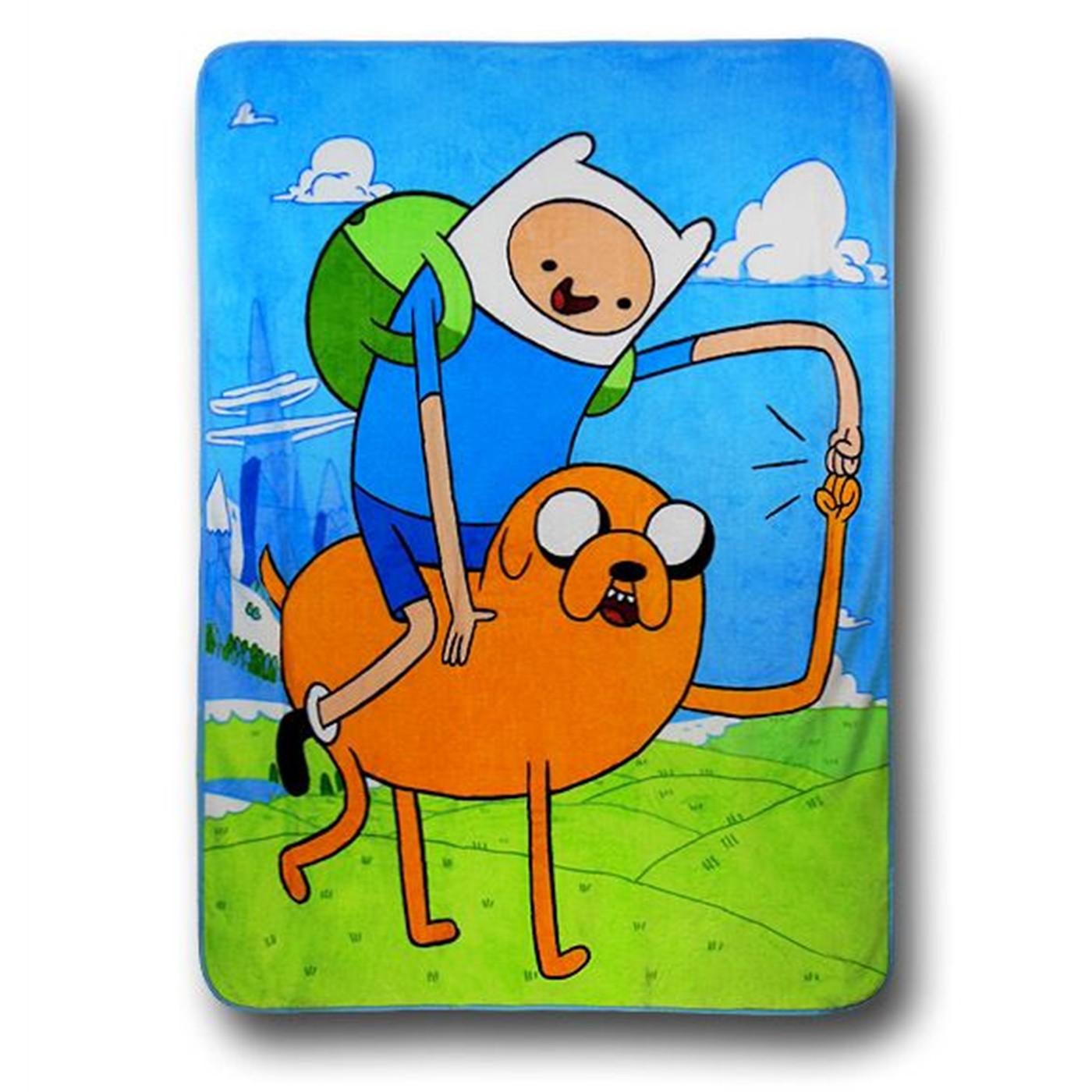 Adventure Time Fist Bump Blanket