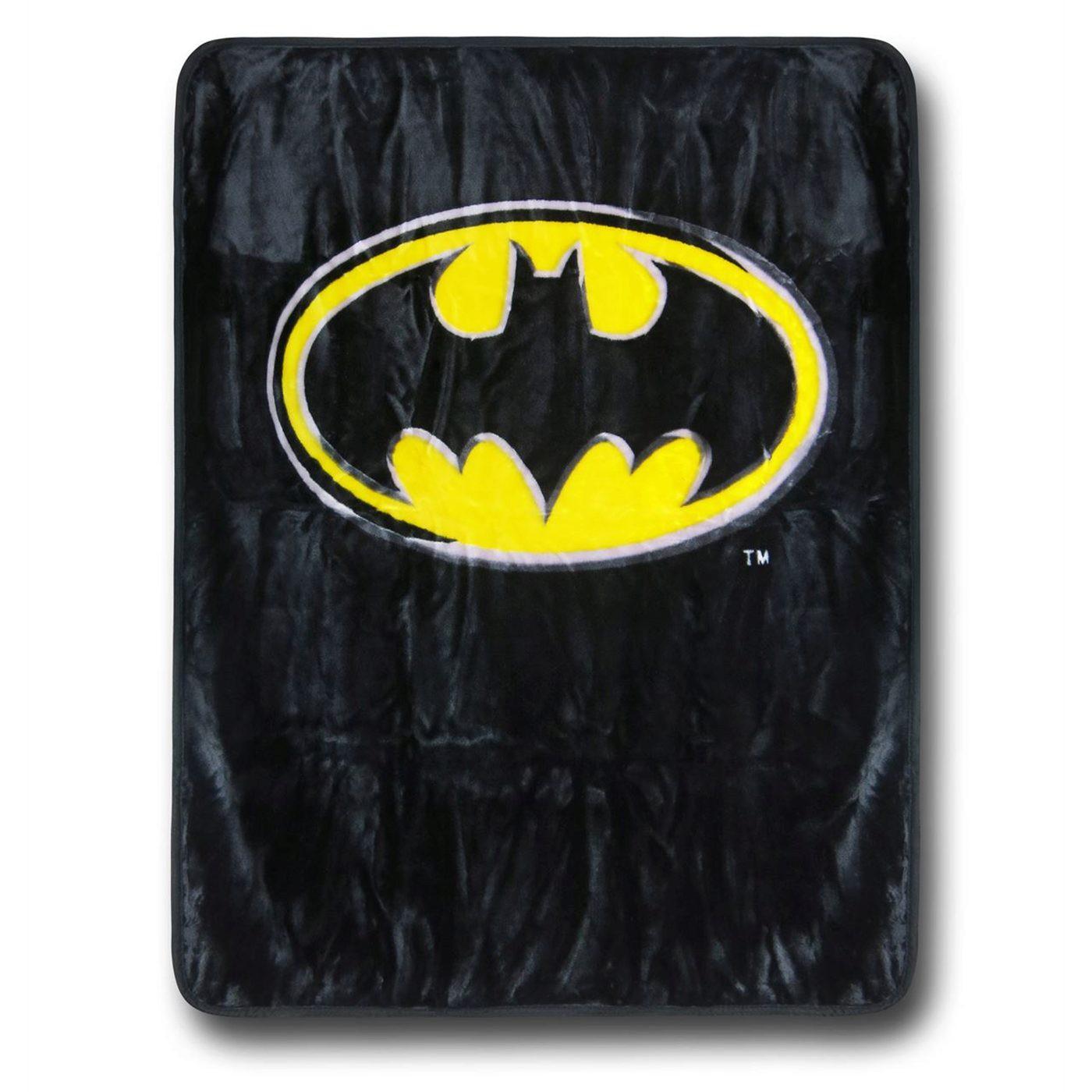 Batman Symbol Luxury Plush Blanket