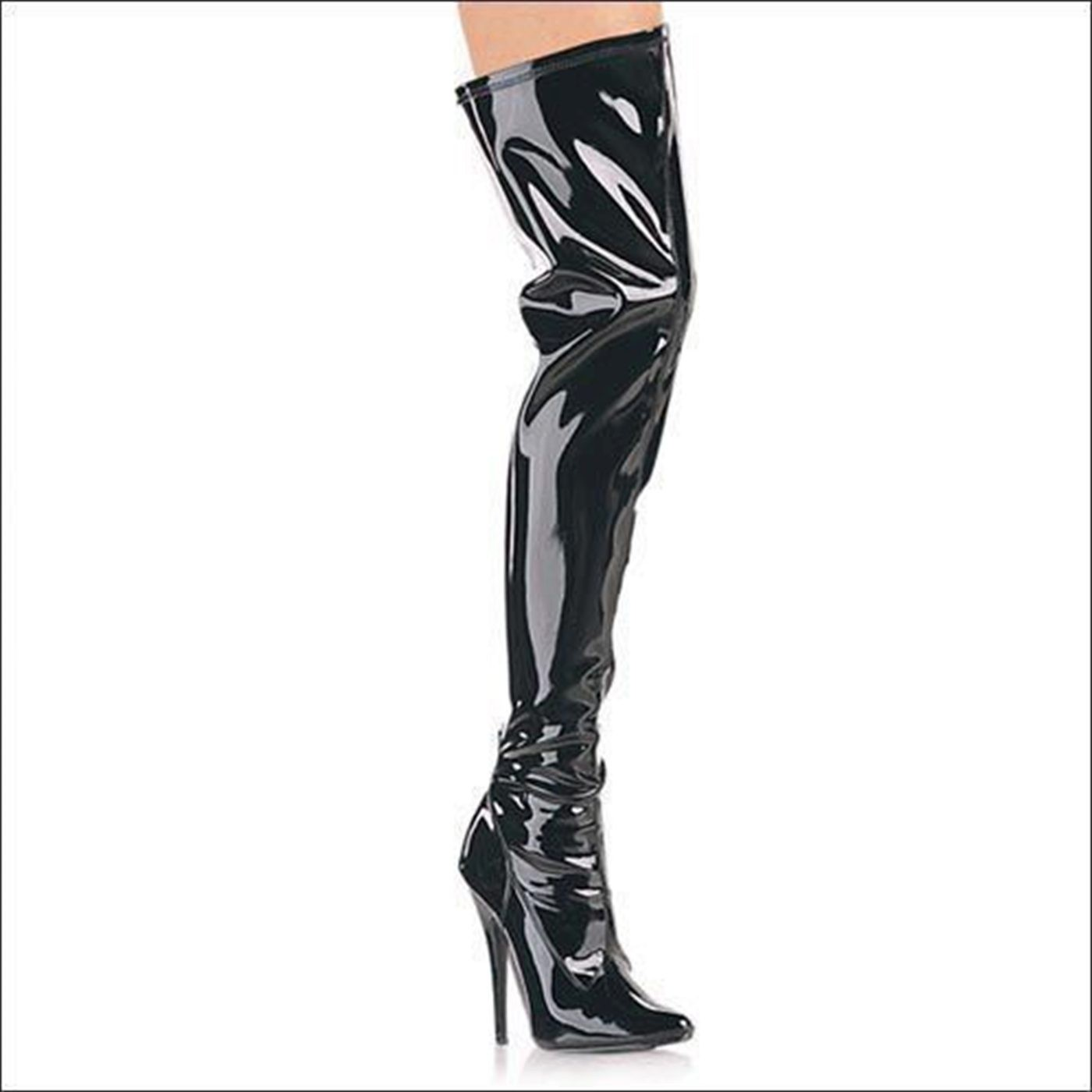 Cat Thigh Boots 6 Inch Heel