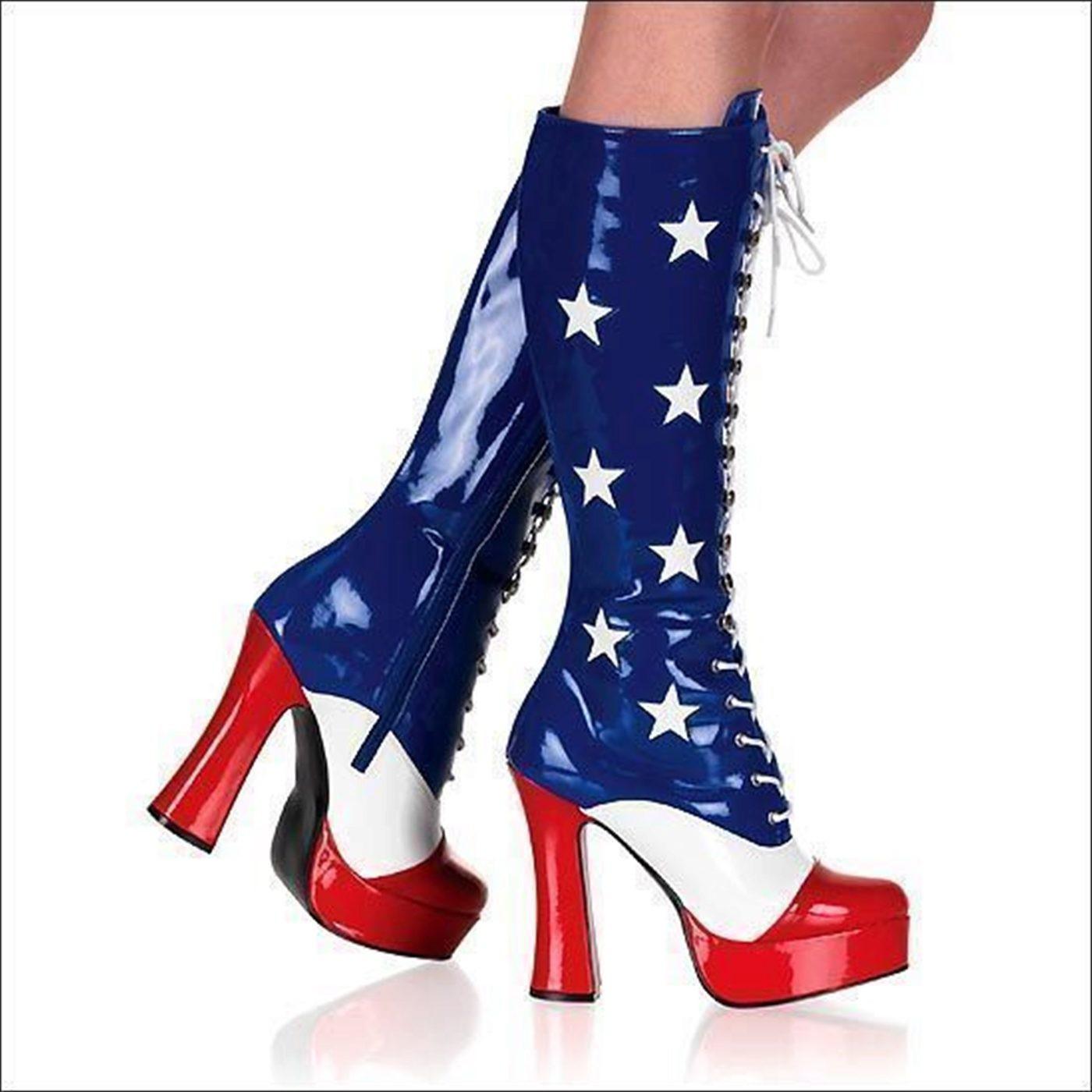 Wonder Patriot Woman Boots 5 Inch Heel