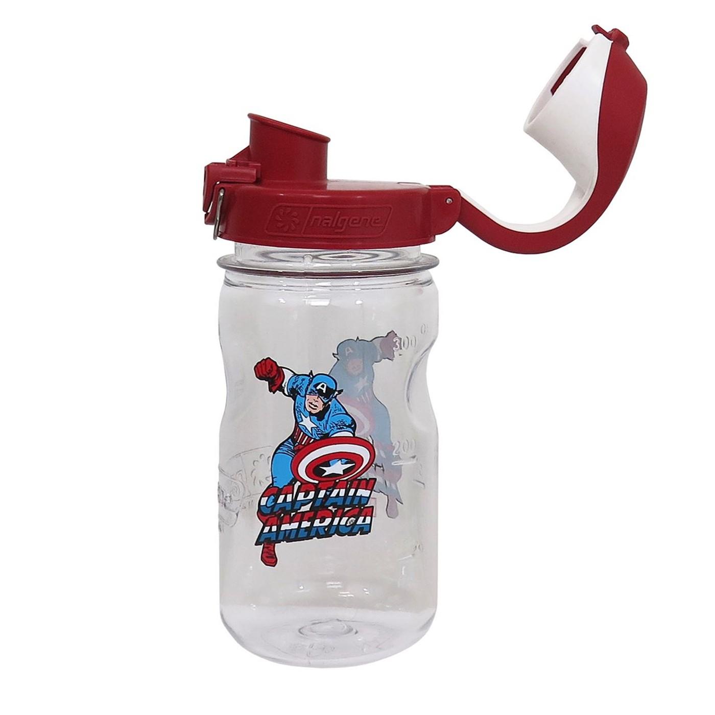 Captain America Nalgene Kids 12oz Water Bottle