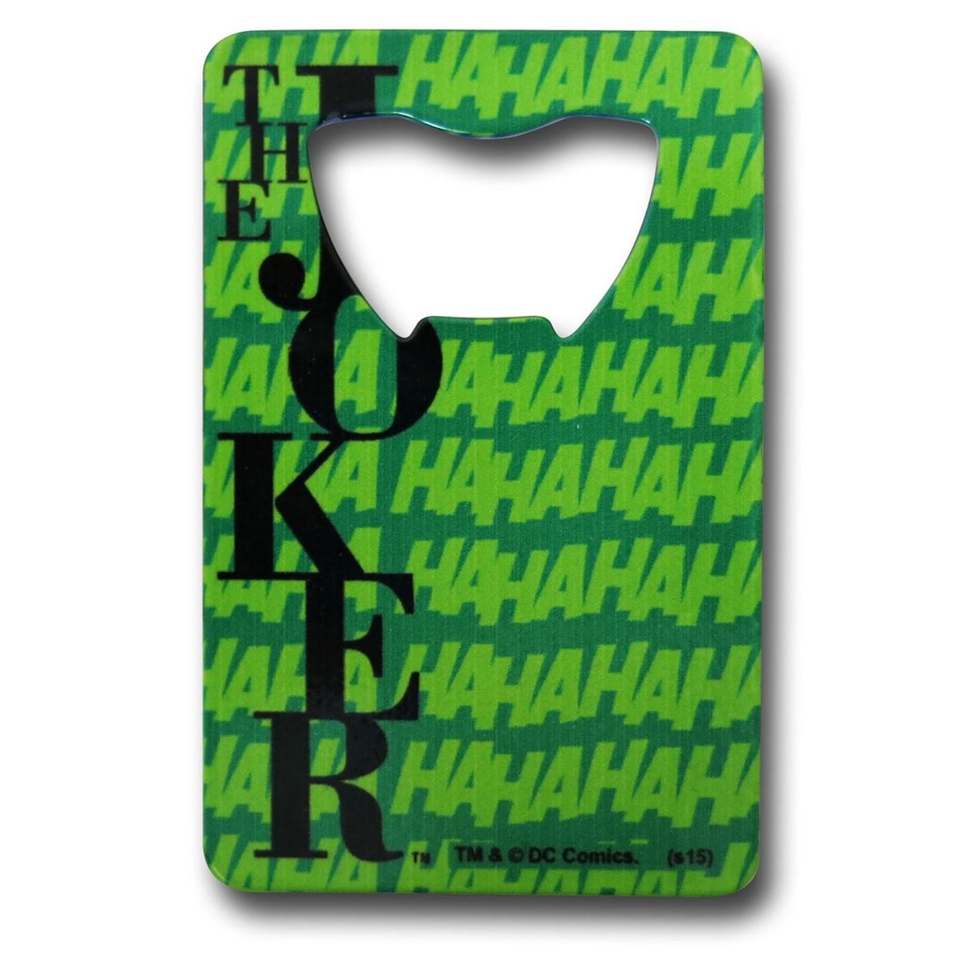 Joker Credit Card Bottle Opener