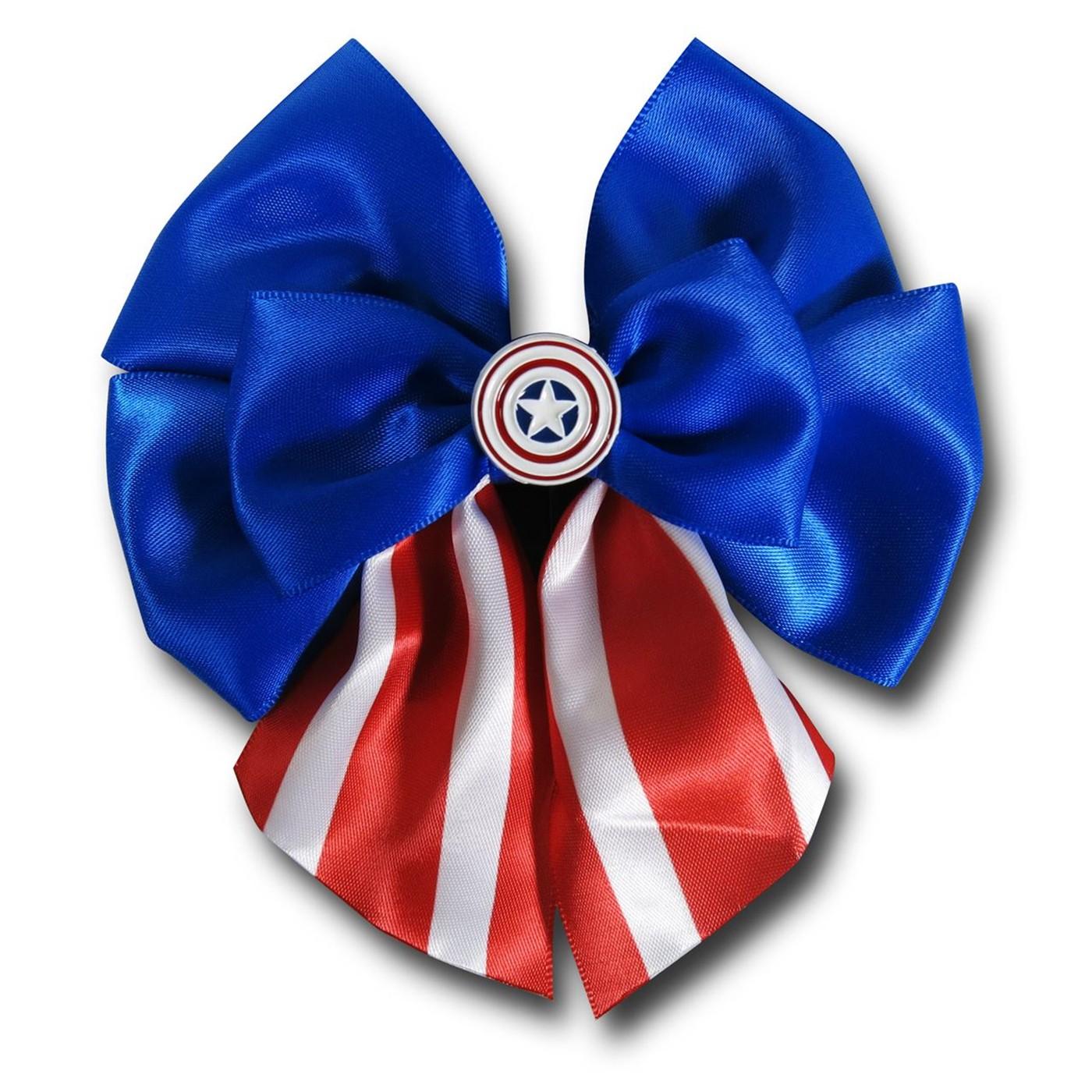 Captain America Red White & Blue Hair Bow
