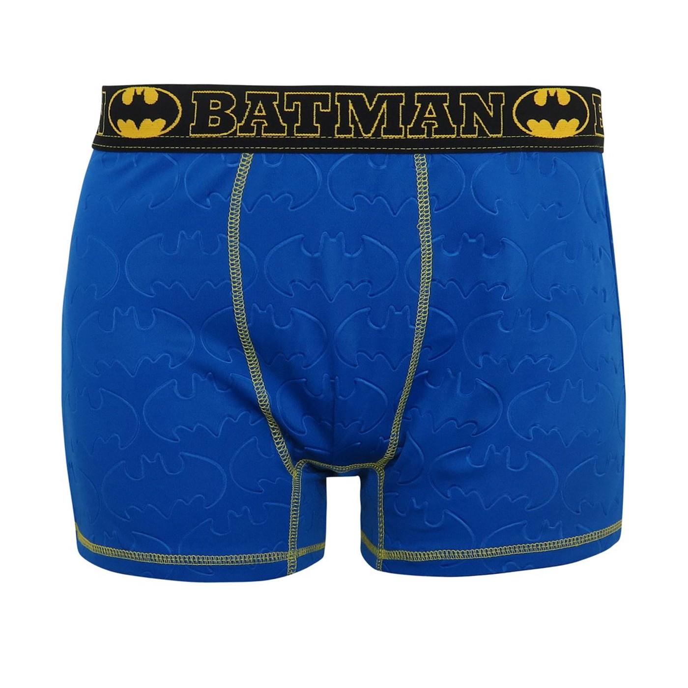 Batman 3D Embossed Symbols Men's Boxer Briefs