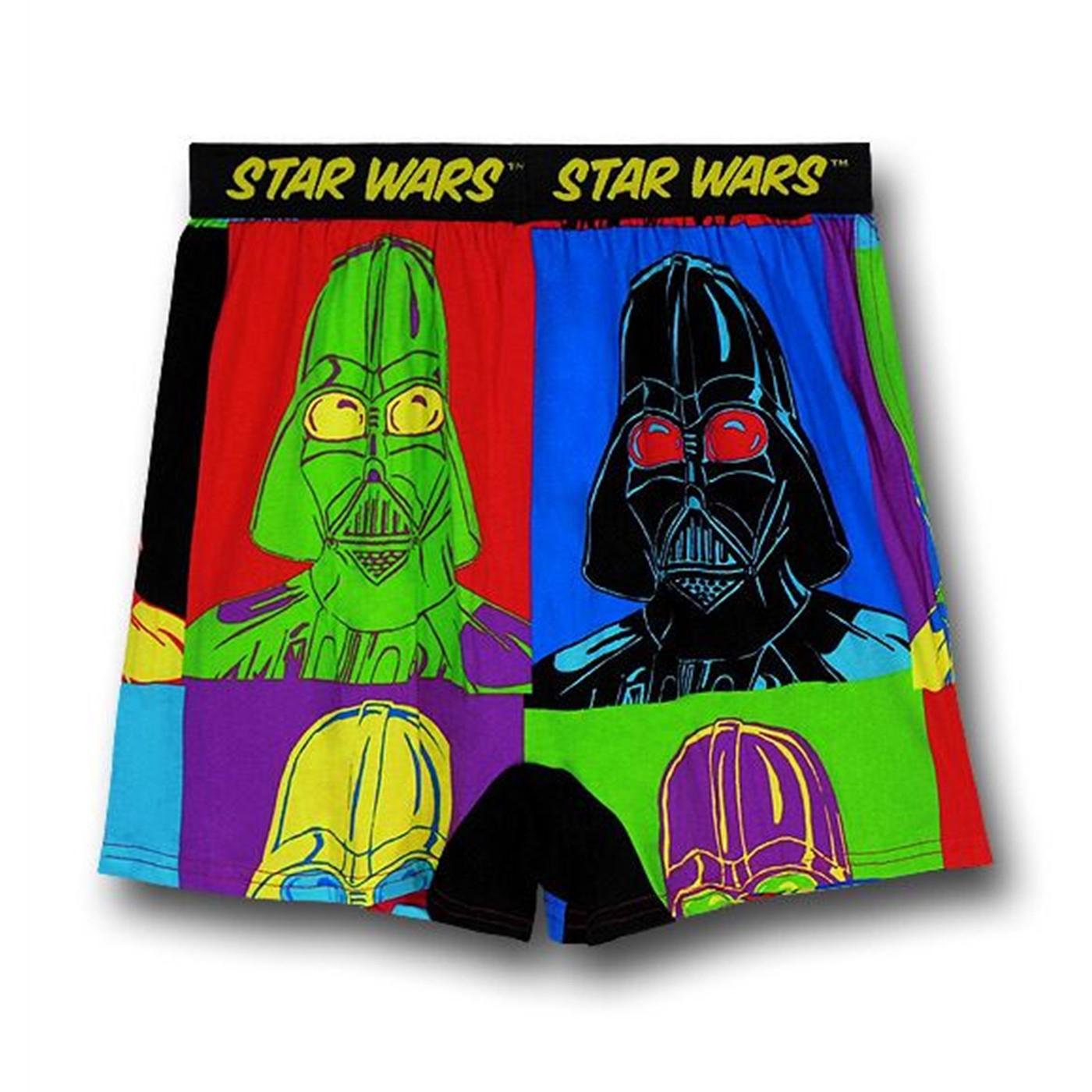 Star Wars Vader Pop Art Squares Boxers