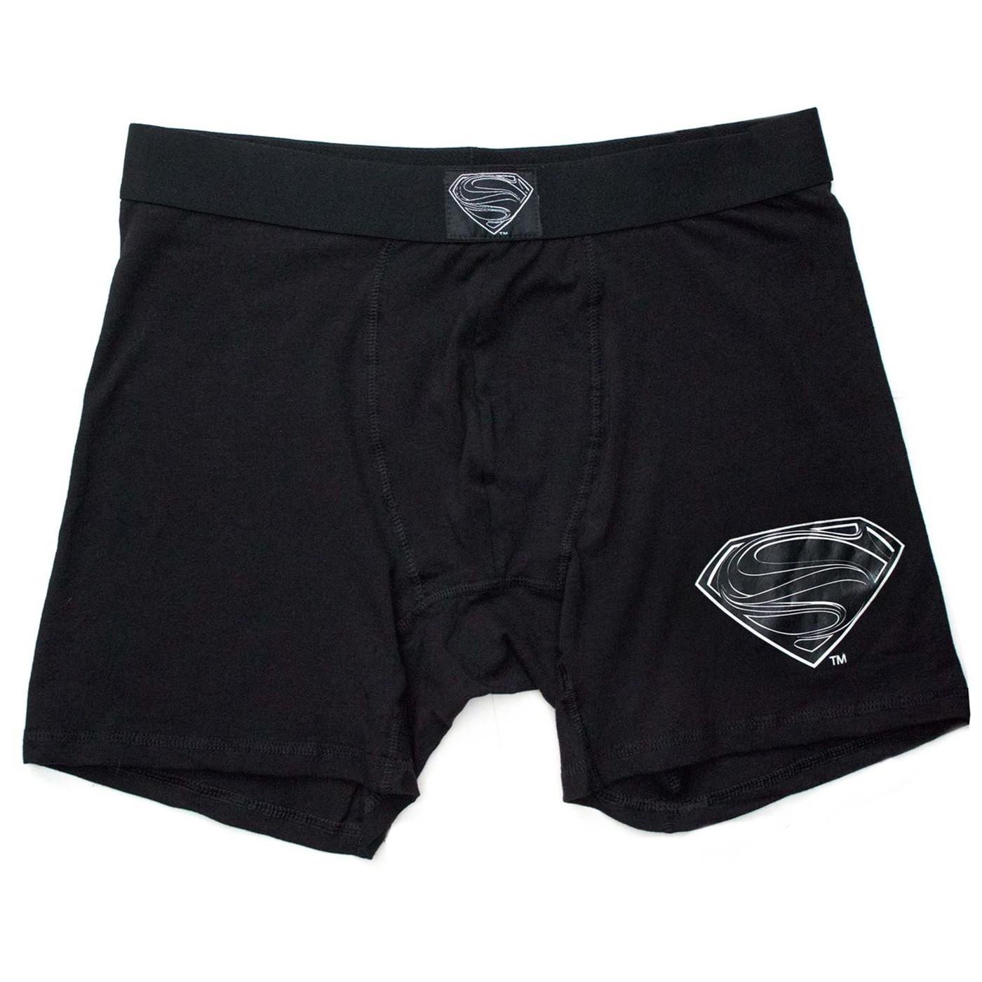 Superman Black Suit Men's Underwear Boxer Briefs