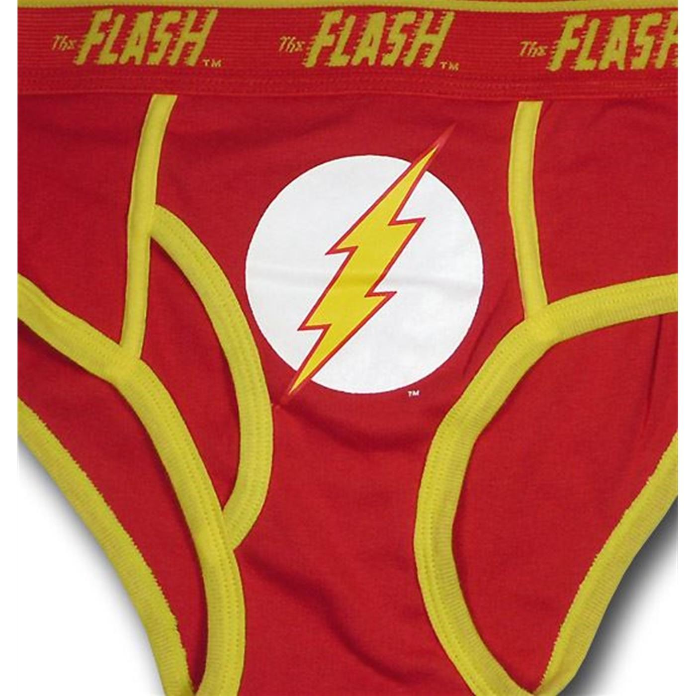 Flash Red Outline Symbol Briefs