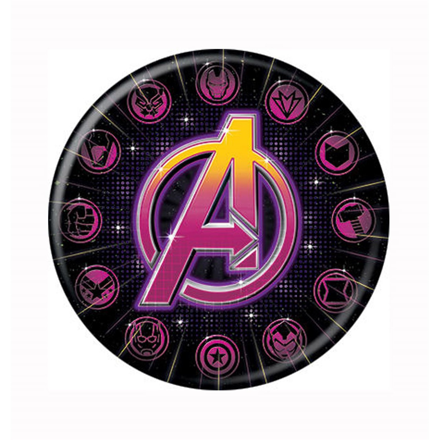 Avengers Characters Icons Button