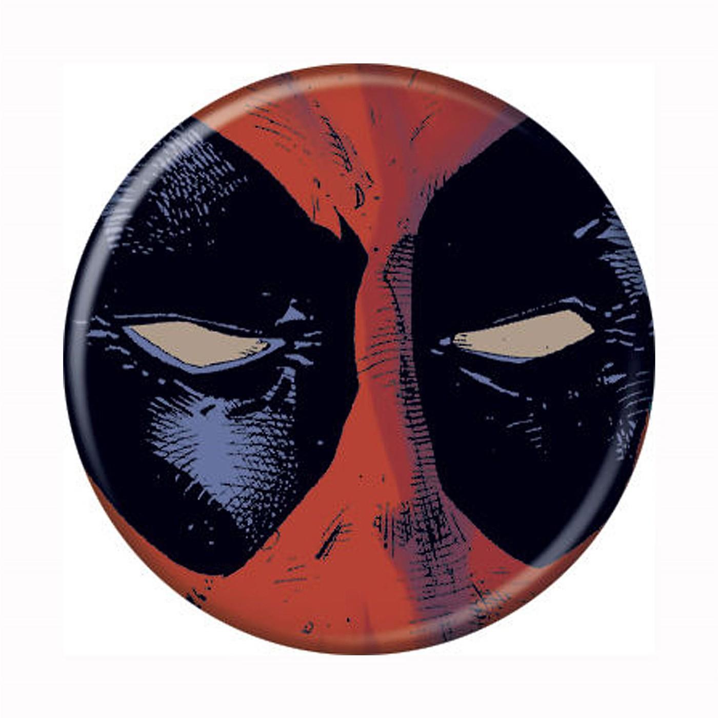 Deadpool Close Up Button