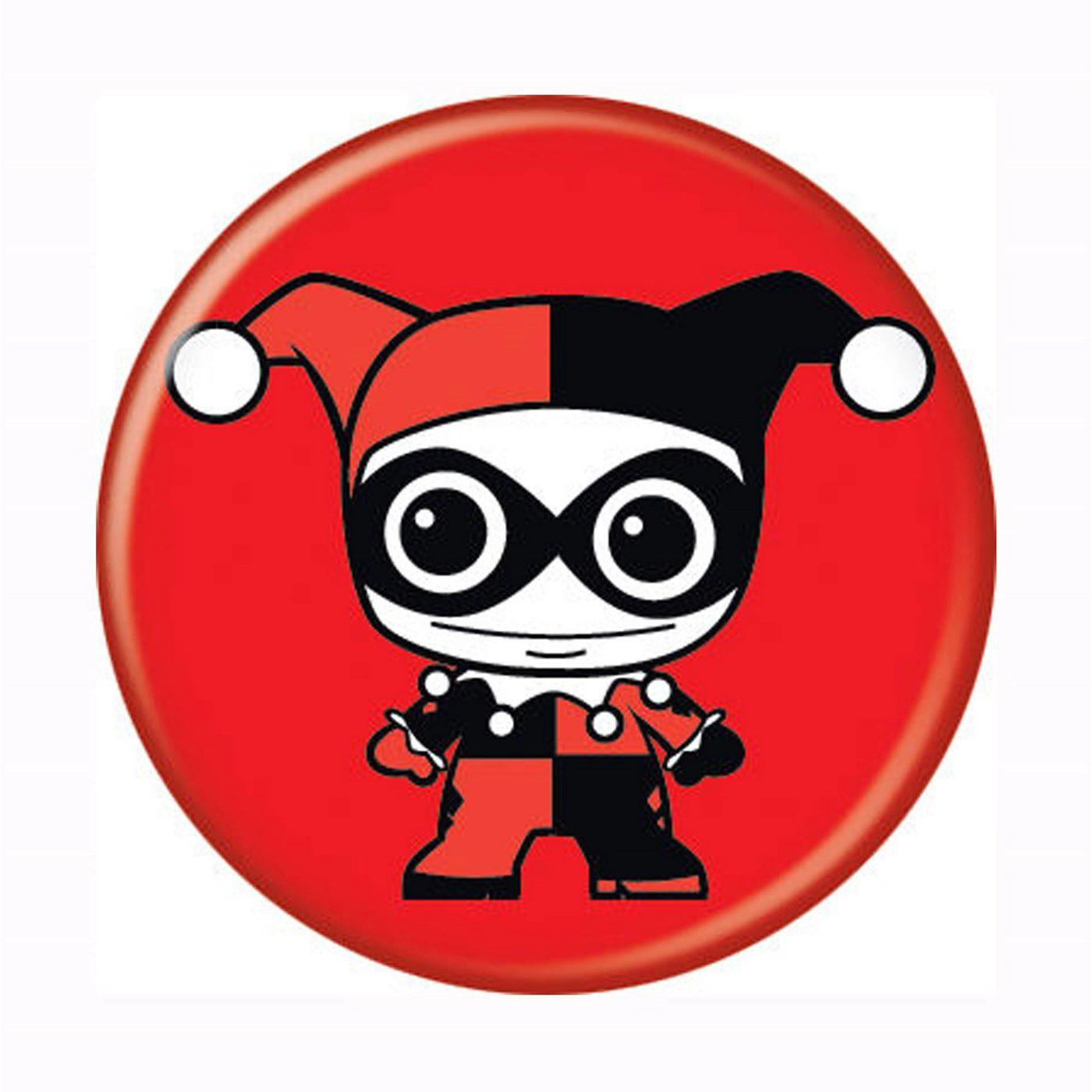 Harley Quinn Kawaii Button
