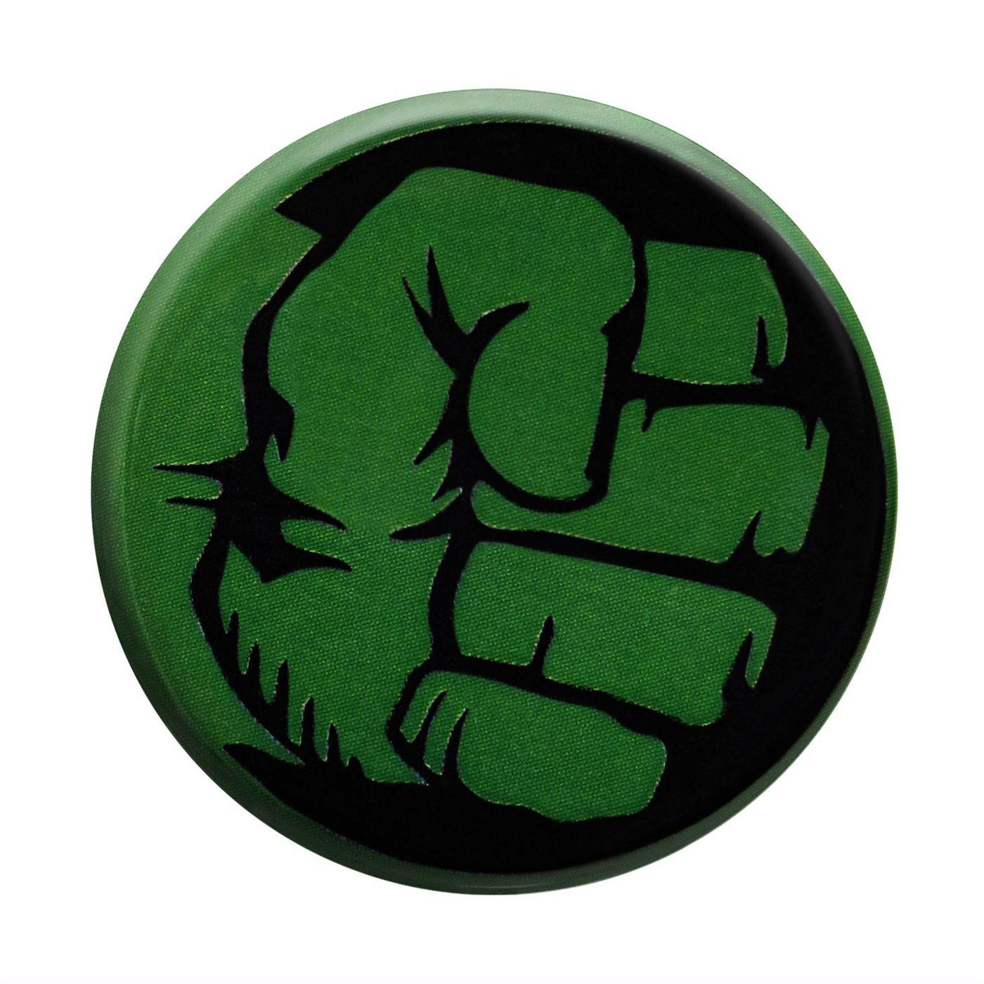 Hulk Fist Black Button
