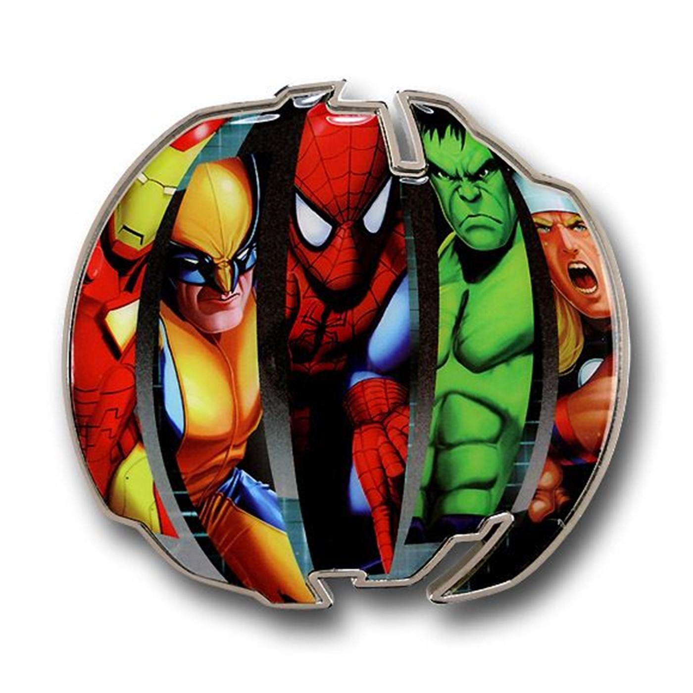 Marvel Heroes Round Belt Buckle