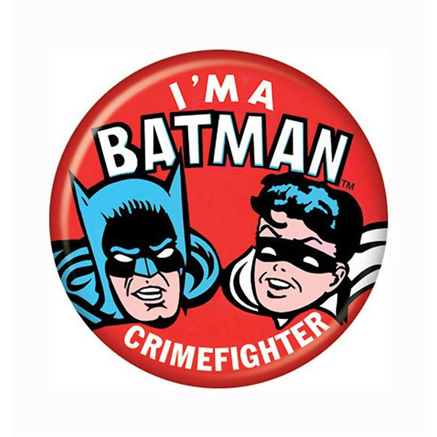 Batman and Robin Crimefighter Button