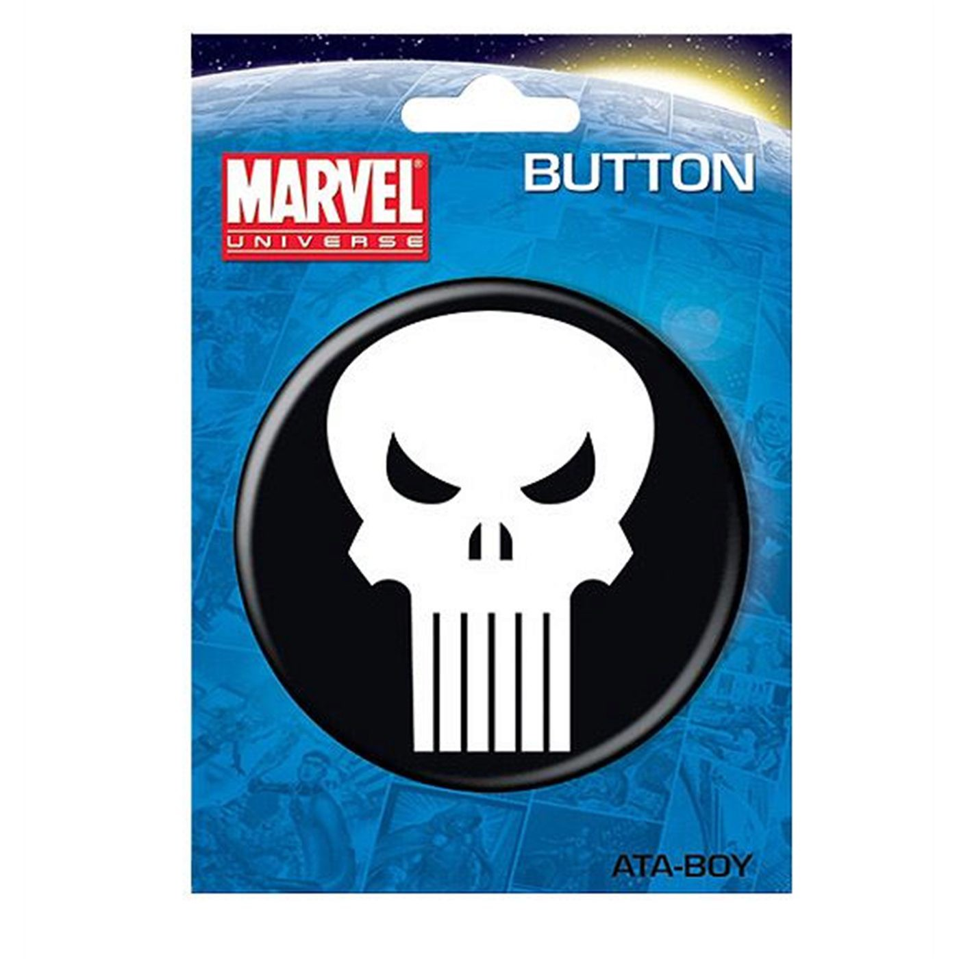 "Punisher Skull 3"" Button"