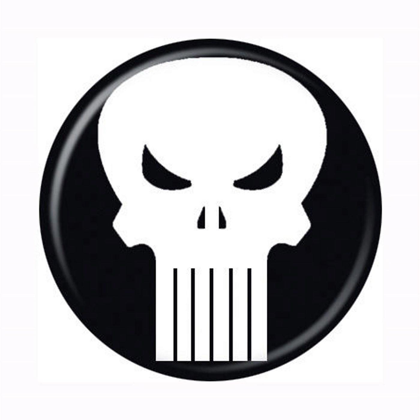 Punisher Skull Symbol Button