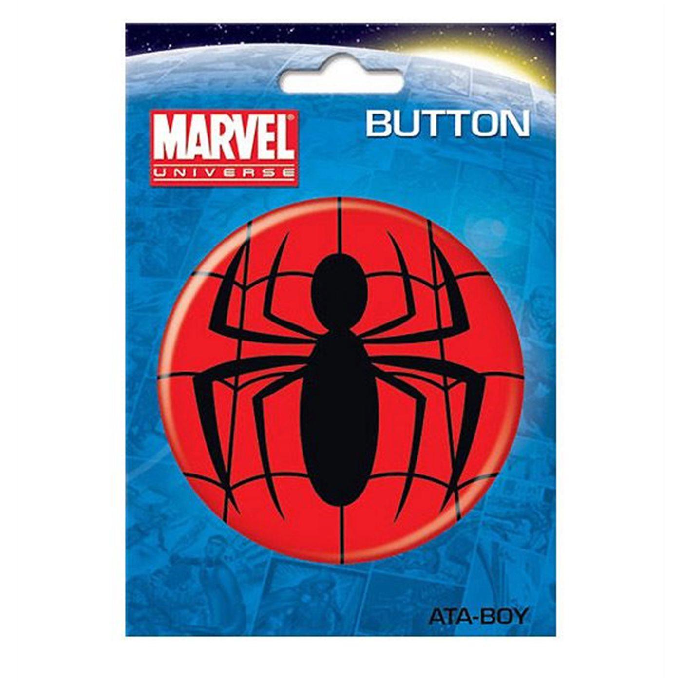 Spiderman Symbol 3 Inch Button