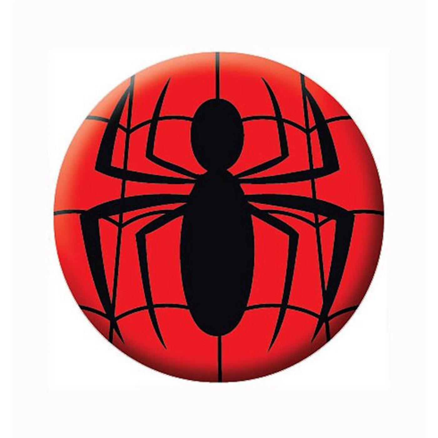 Spiderman Symbol Button