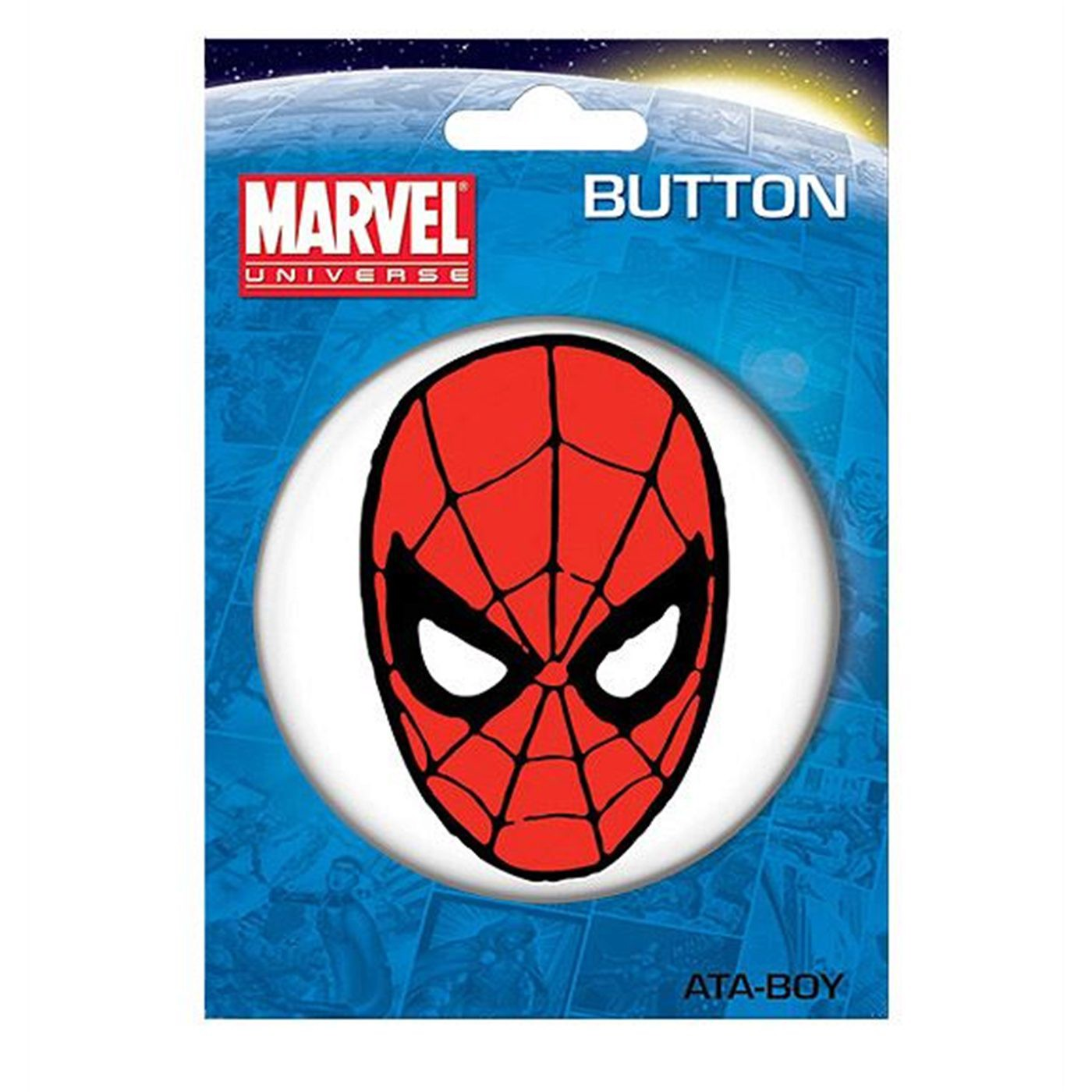 "Spiderman Face 3"" Button"