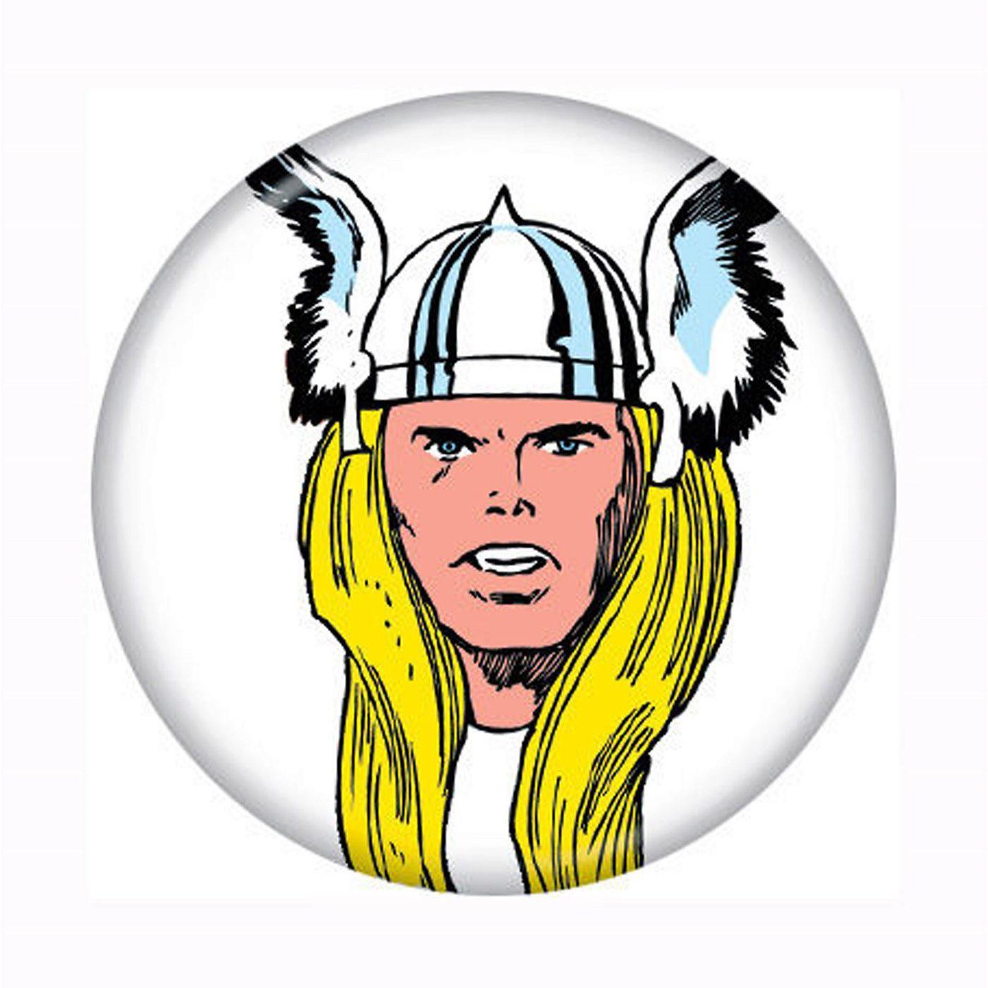 Thor Helmed Head Button