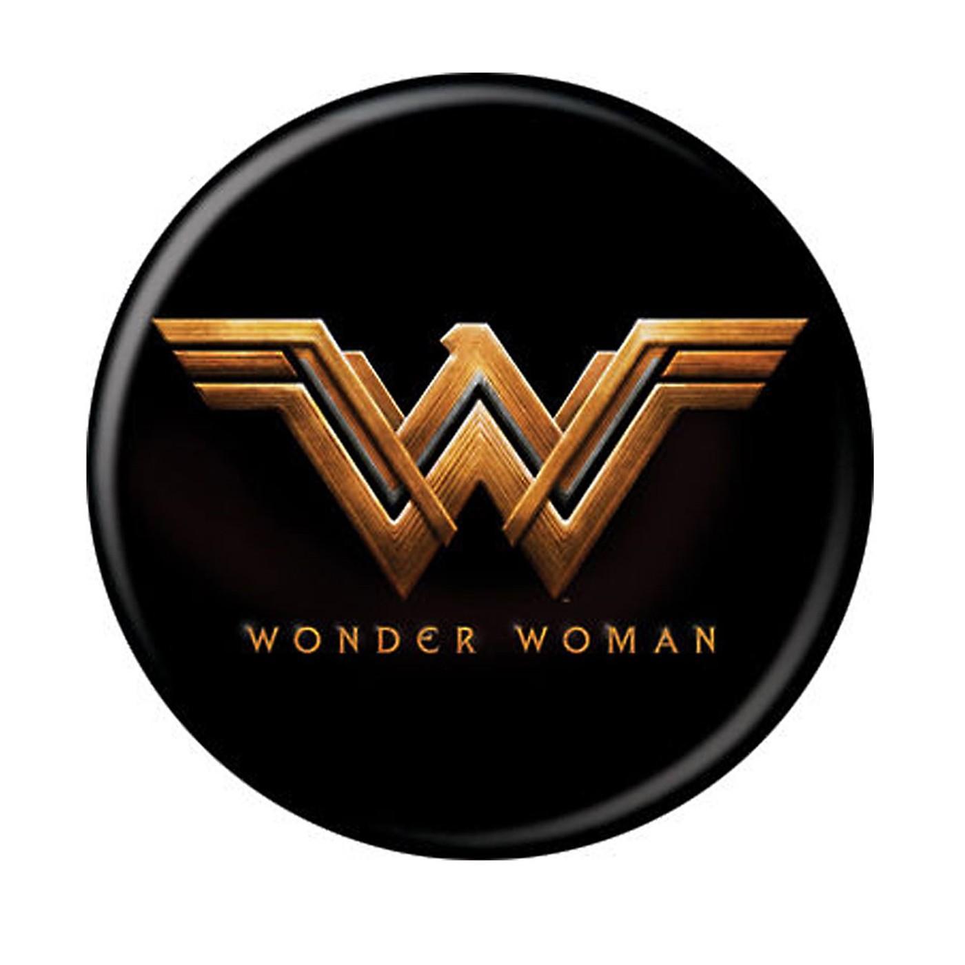 Wonder Woman Movie Logo Black Button