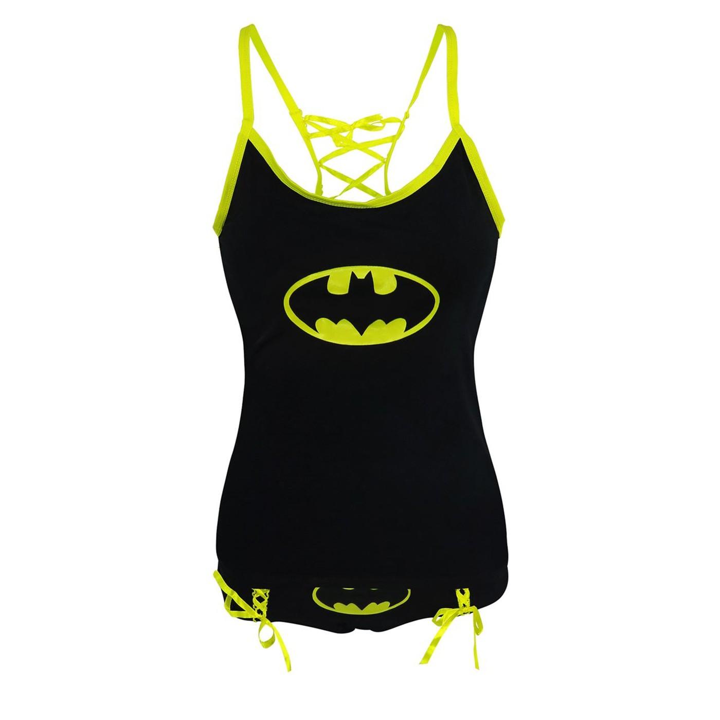 Batman Women's Camisole and Panty Set Glow in Dark