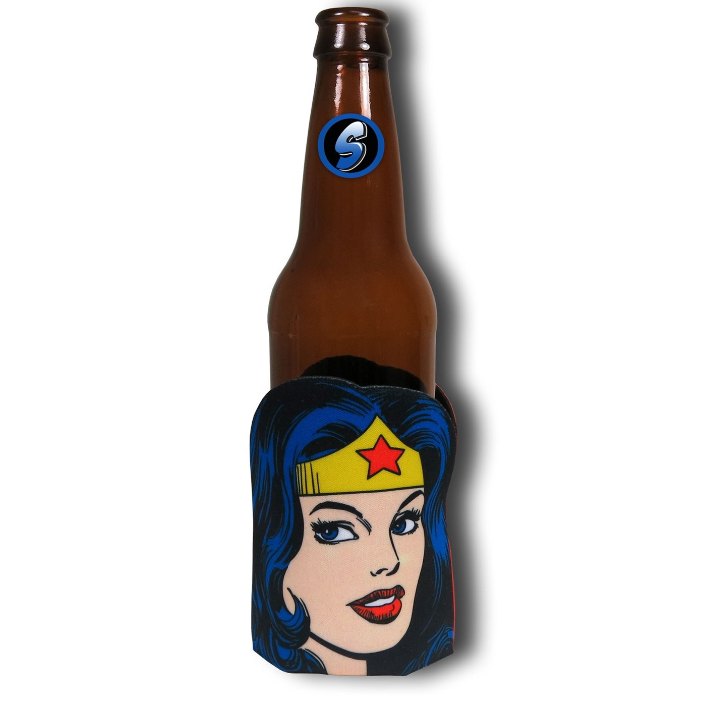 Wonder Woman Face Can and Bottle Cooler