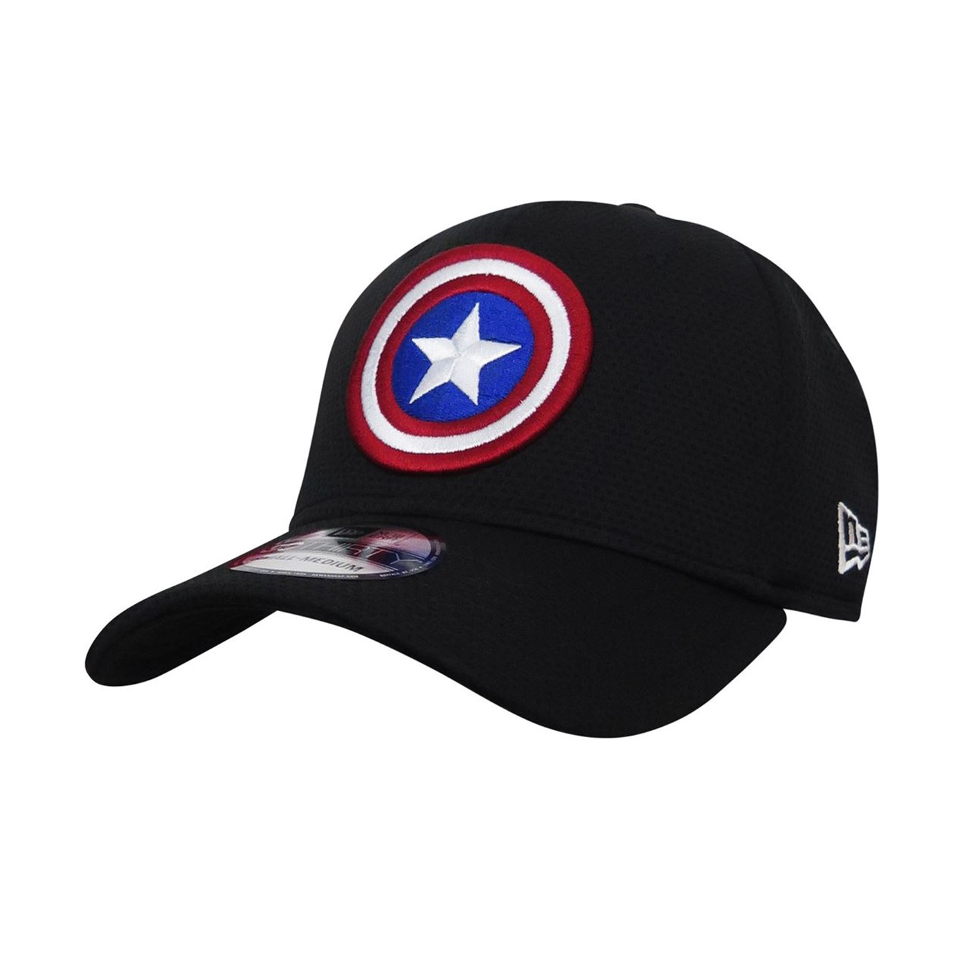 Captain America Shield Black 39Thirty Fitted Hat
