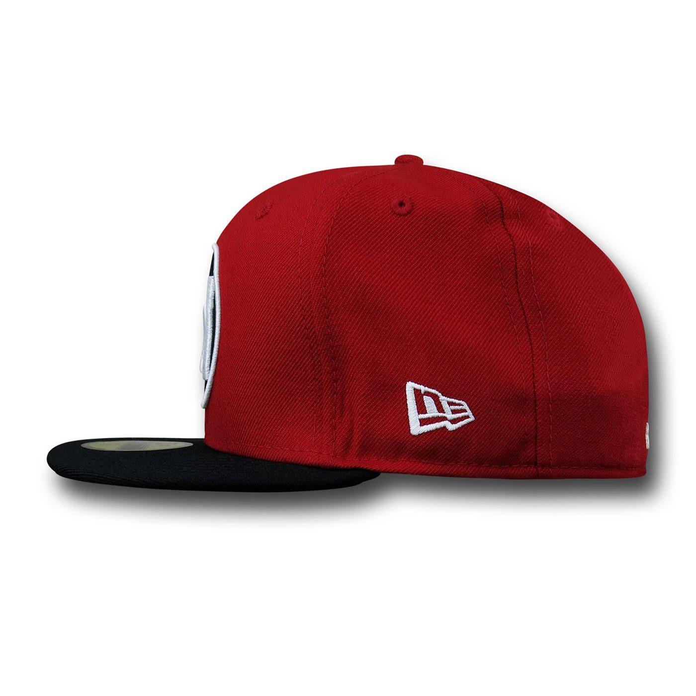 Red Lantern Symbol Red & Black 59Fifty Hat